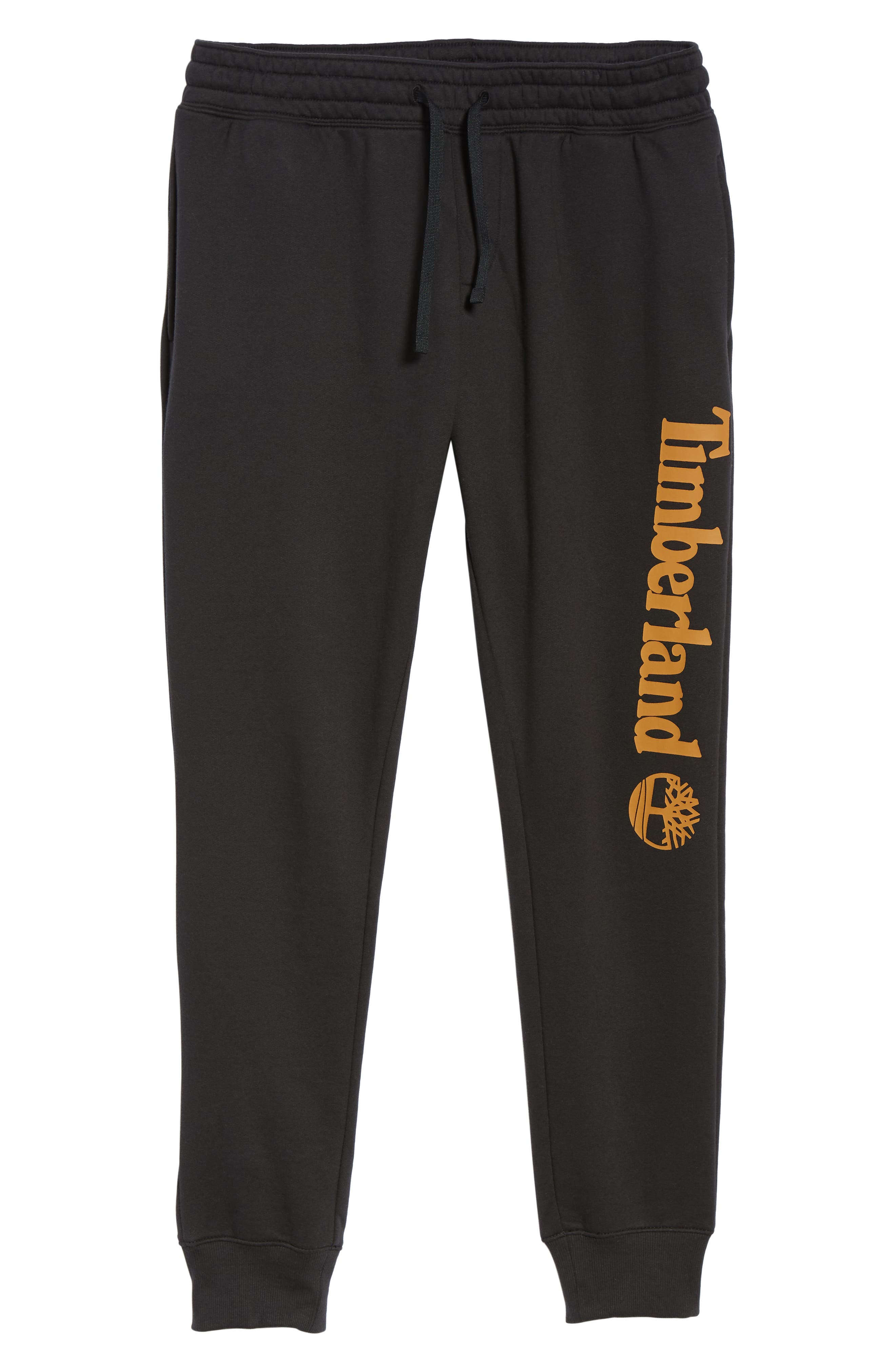 Slim Fit Logo Sweatpants,                             Alternate thumbnail 6, color,                             BLACK