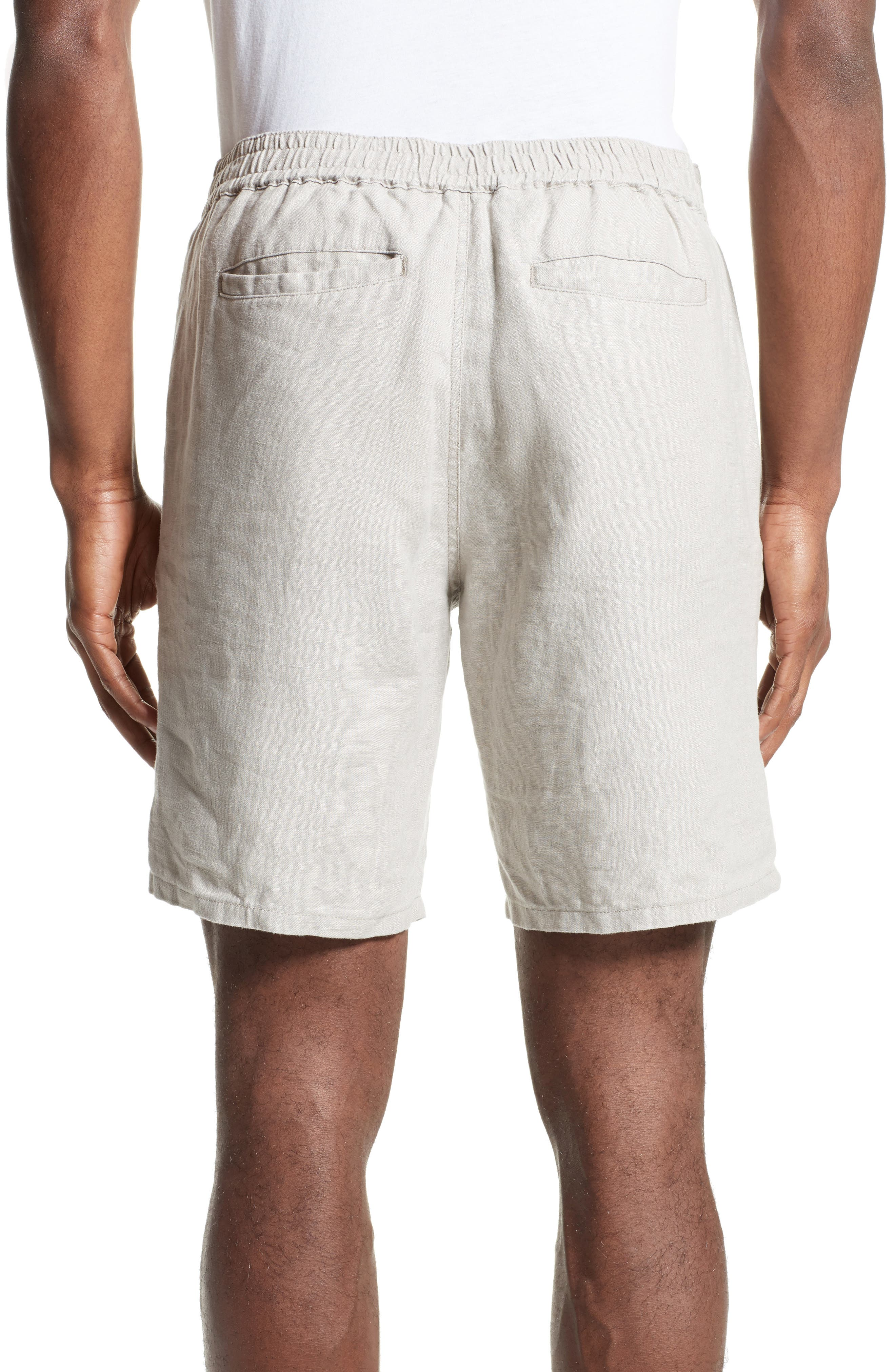 Max Linen Shorts,                             Alternate thumbnail 2, color,                             DUNE