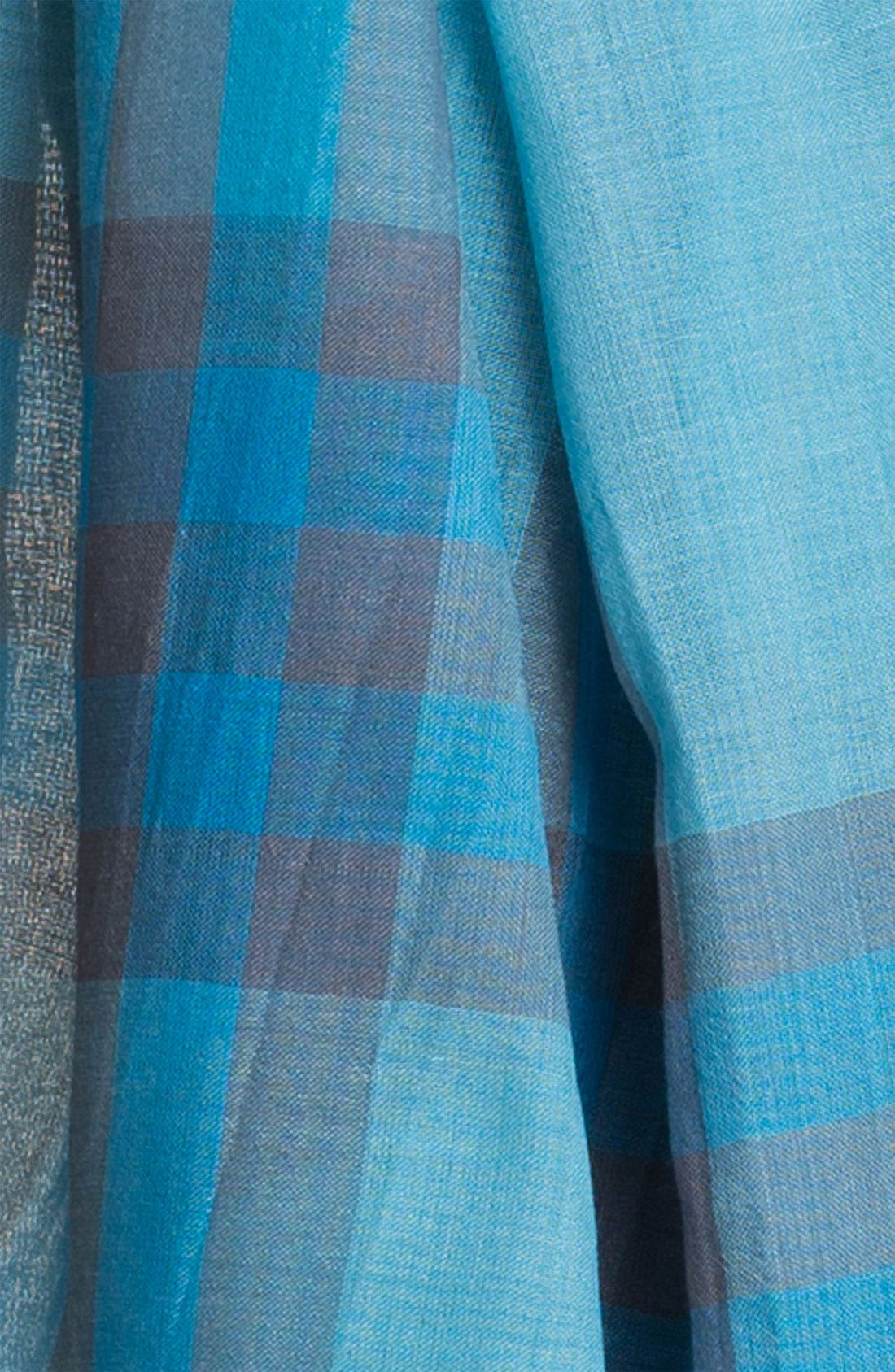 Giant Check Print Wool & Silk Scarf,                             Alternate thumbnail 102, color,