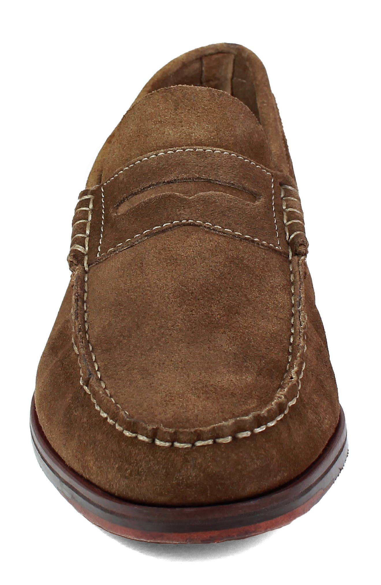 Heads-Up Penny Loafer,                             Alternate thumbnail 4, color,                             SNUFF SUEDE