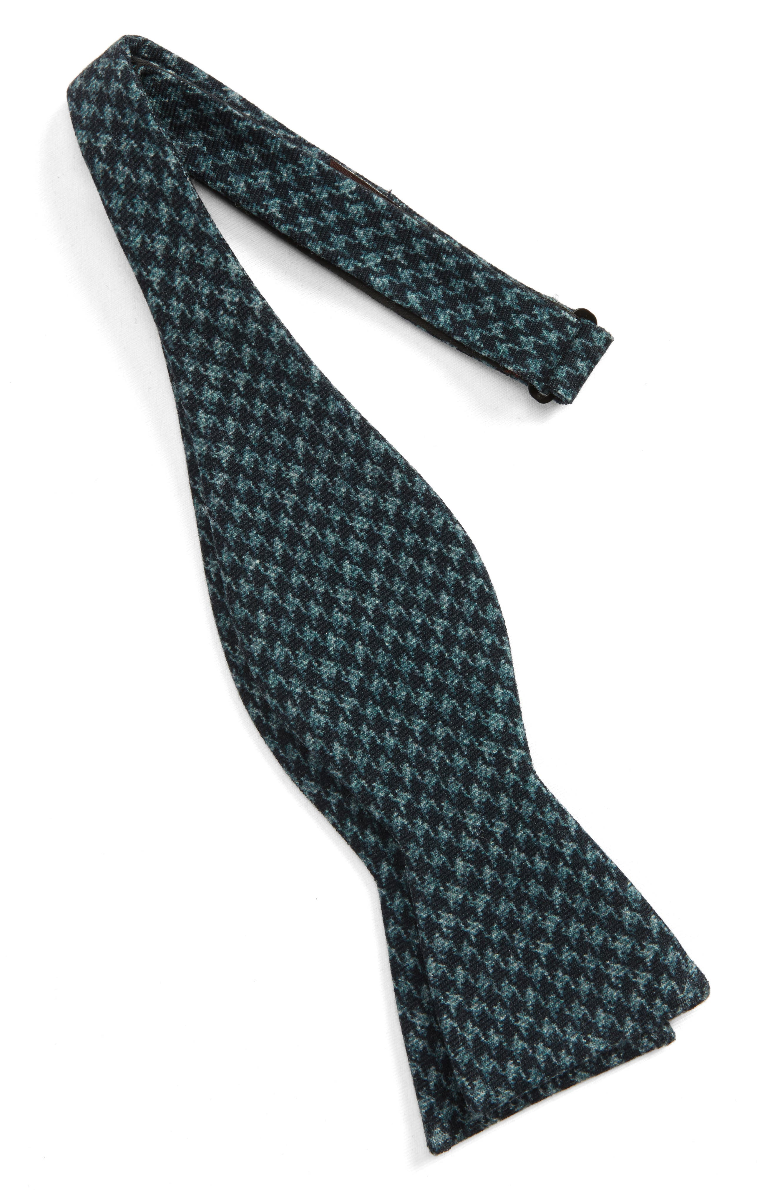 Woolf Houndstooth Wool Bow Tie,                             Alternate thumbnail 2, color,                             001
