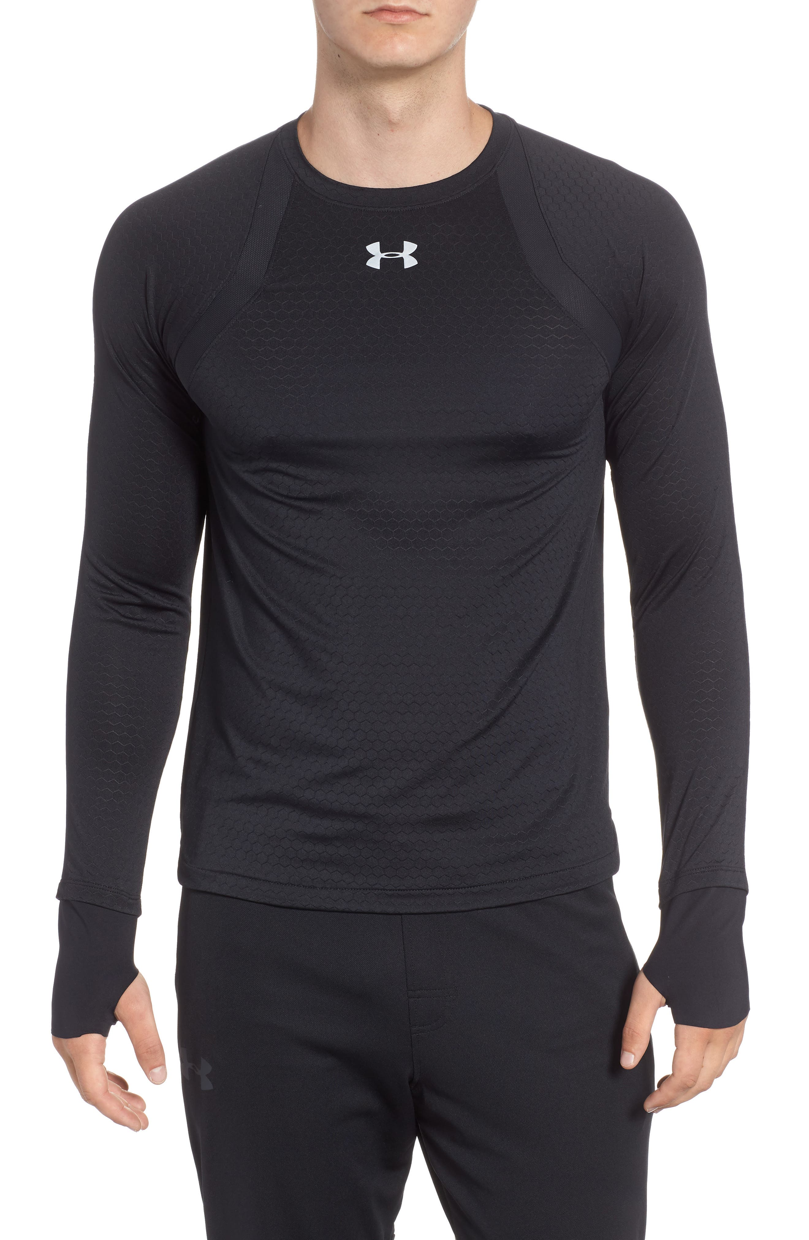 HexDelta Long Sleeve T-Shirt,                         Main,                         color, BLACK/ BLACK/ REFLECTIVE