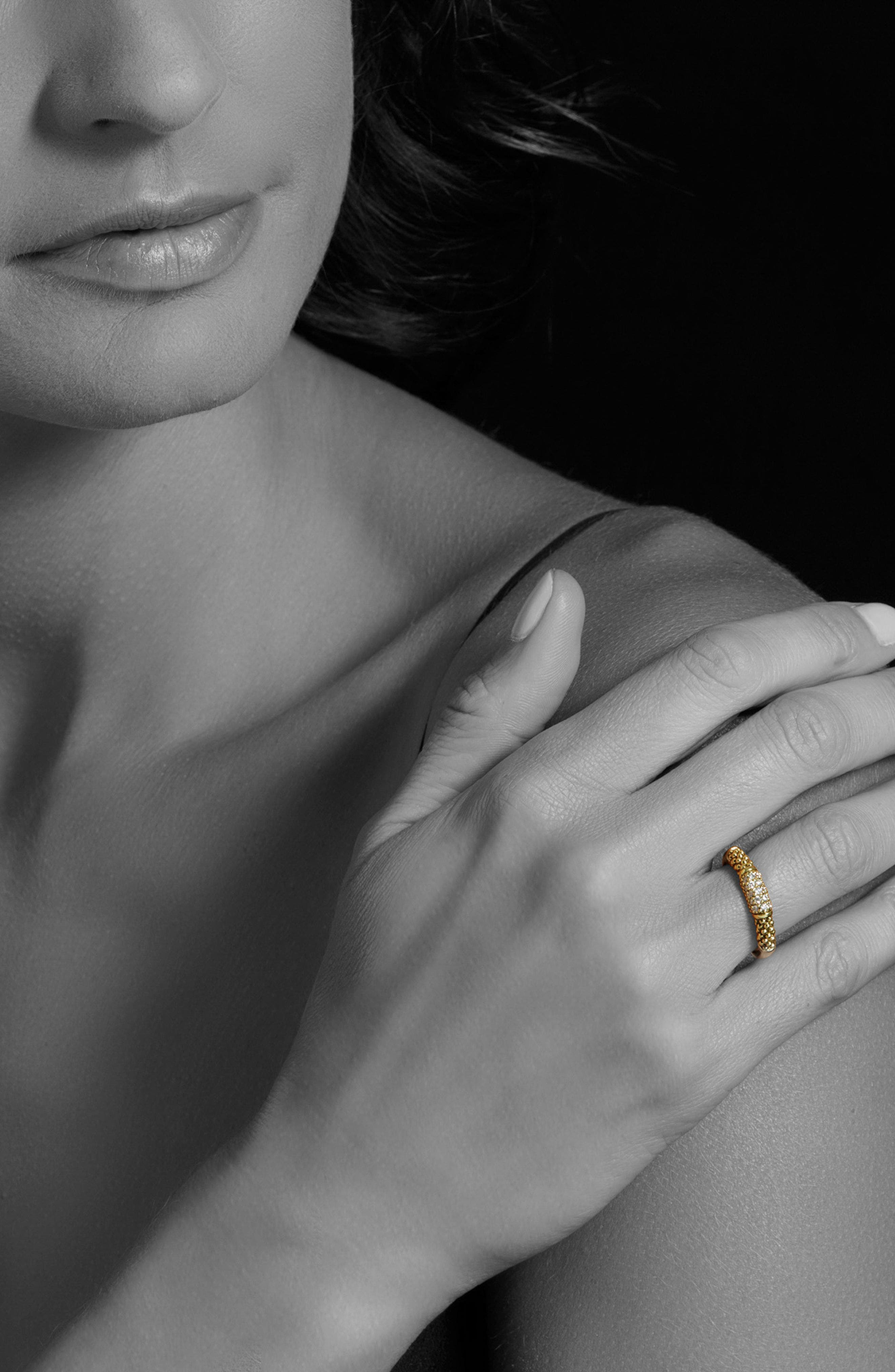Caviar Diamond Ring,                             Alternate thumbnail 2, color,                             GOLD