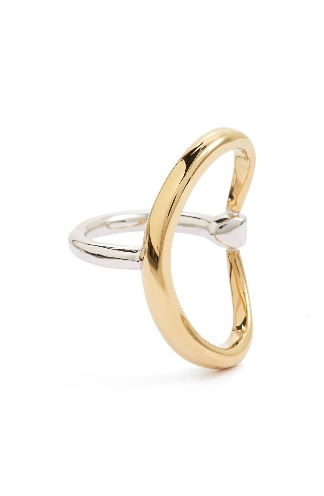 Turtle Ring,                         Main,                         color, VERMEIL/ SILVER