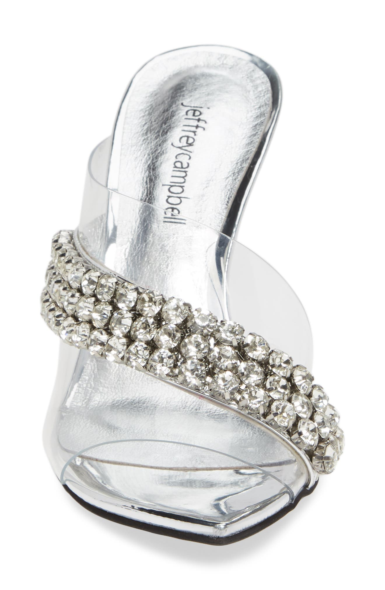 Glam Sandal,                             Alternate thumbnail 4, color,                             SILVER MIRROR LEATHER