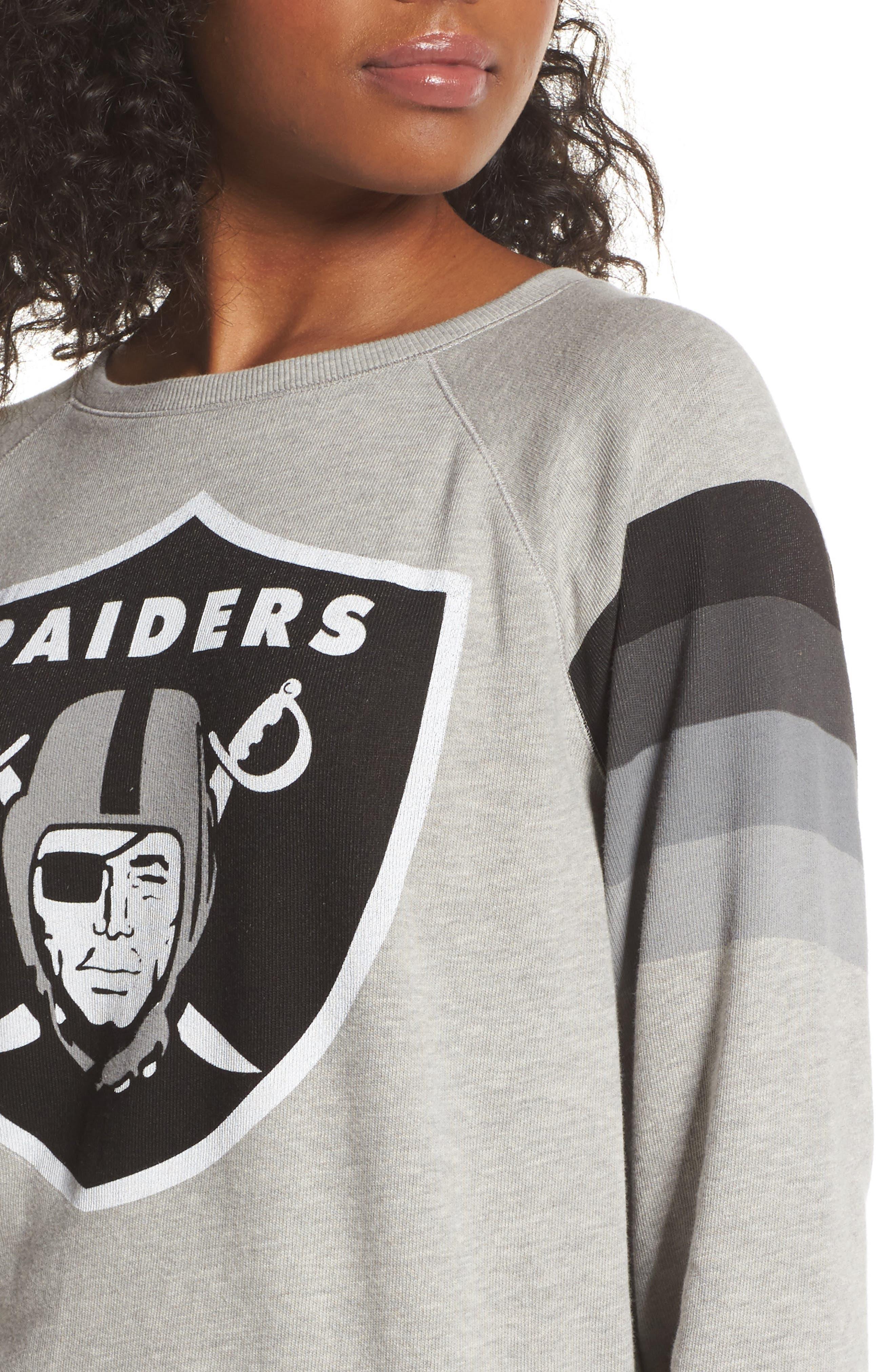 NFL Oakland Raiders Hacci Sweatshirt,                             Alternate thumbnail 4, color,