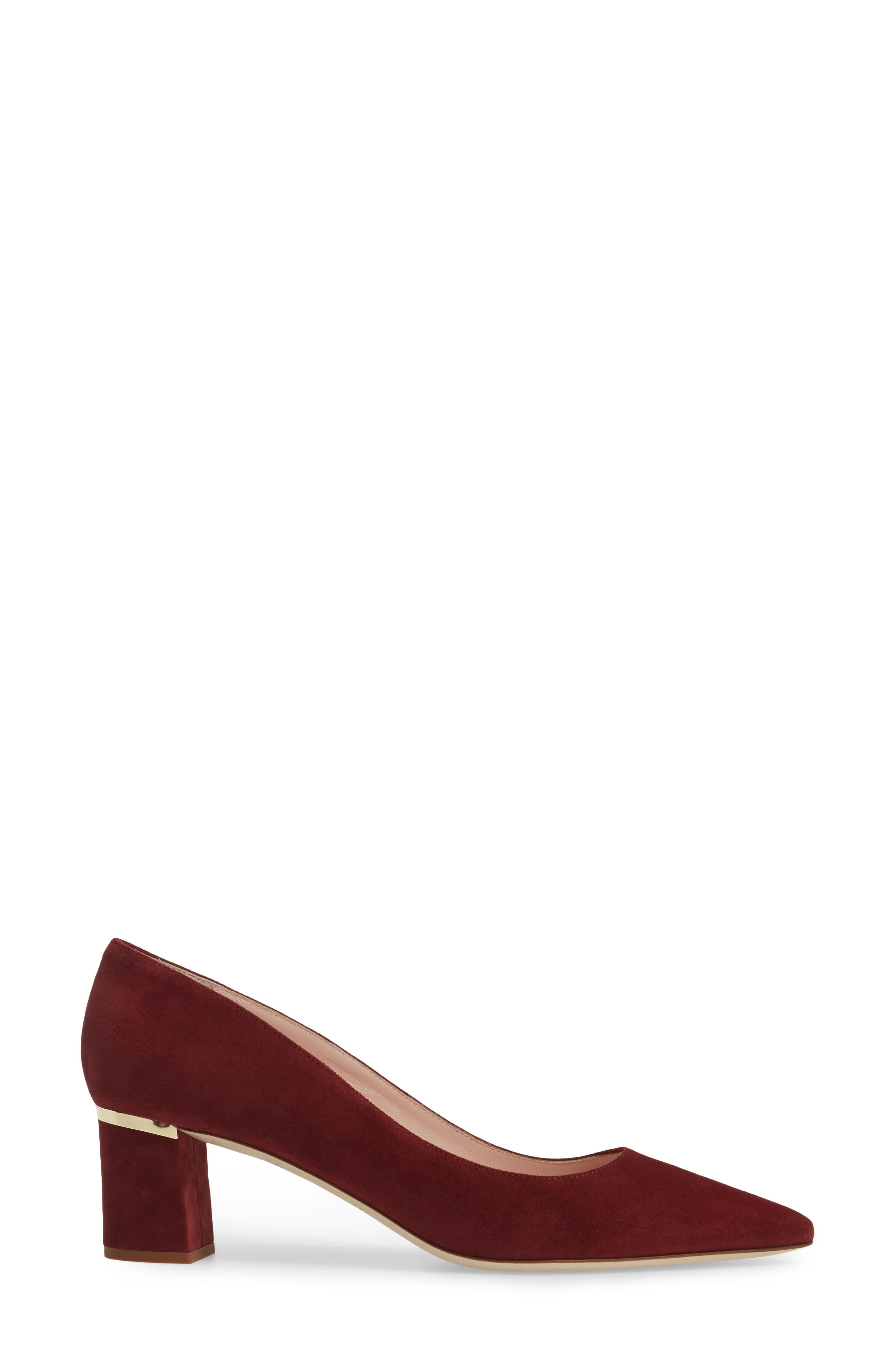 'milan too' pointy toe pump,                             Alternate thumbnail 3, color,                             620