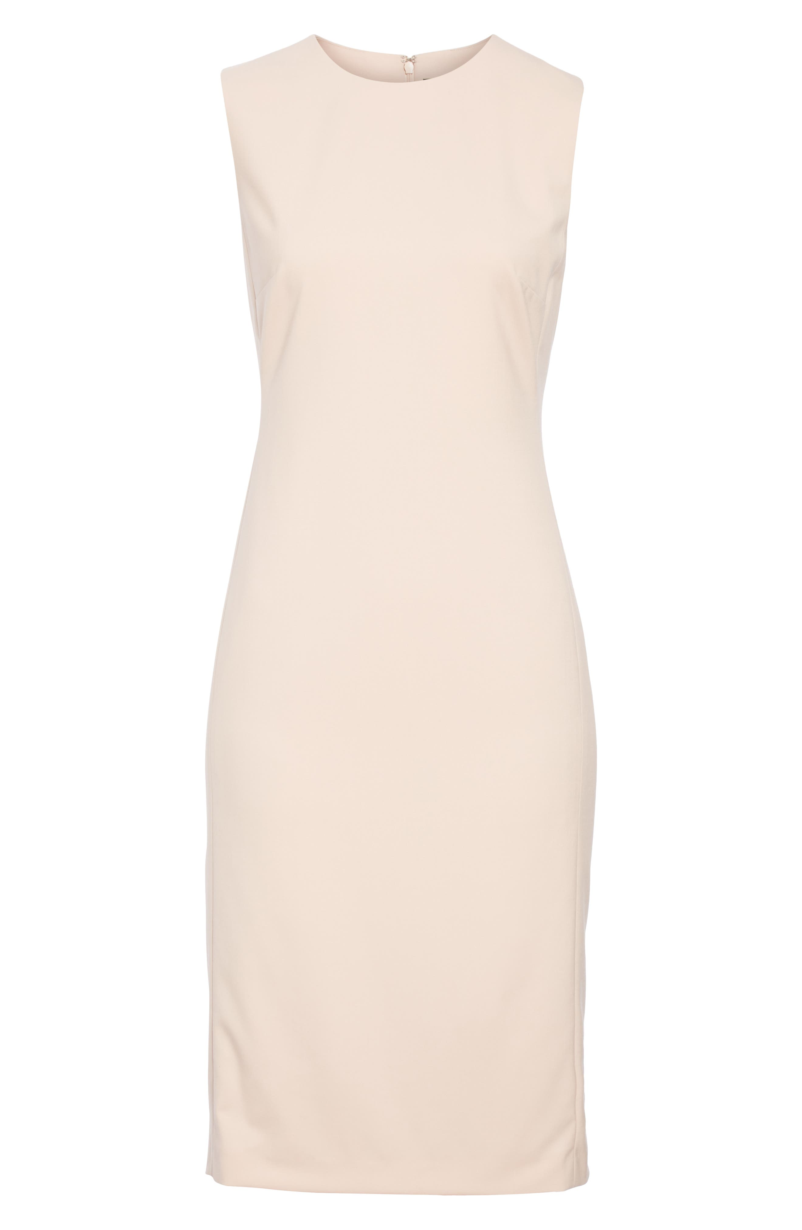 Eano Good Wool Sheath Dress,                             Alternate thumbnail 6, color,                             650
