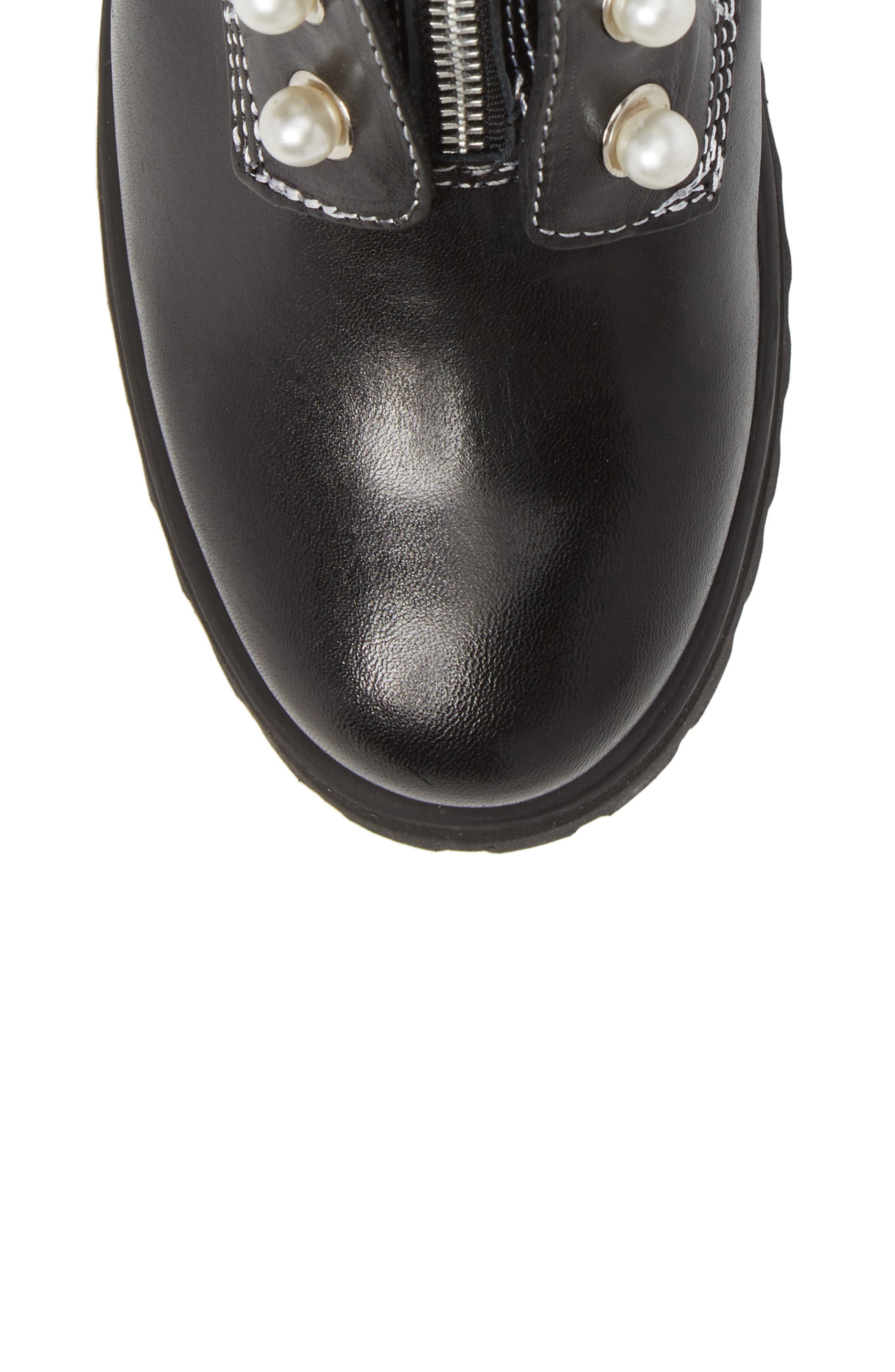 STEVE MADDEN,                             Granite Embellished Zip Boot,                             Alternate thumbnail 5, color,                             001