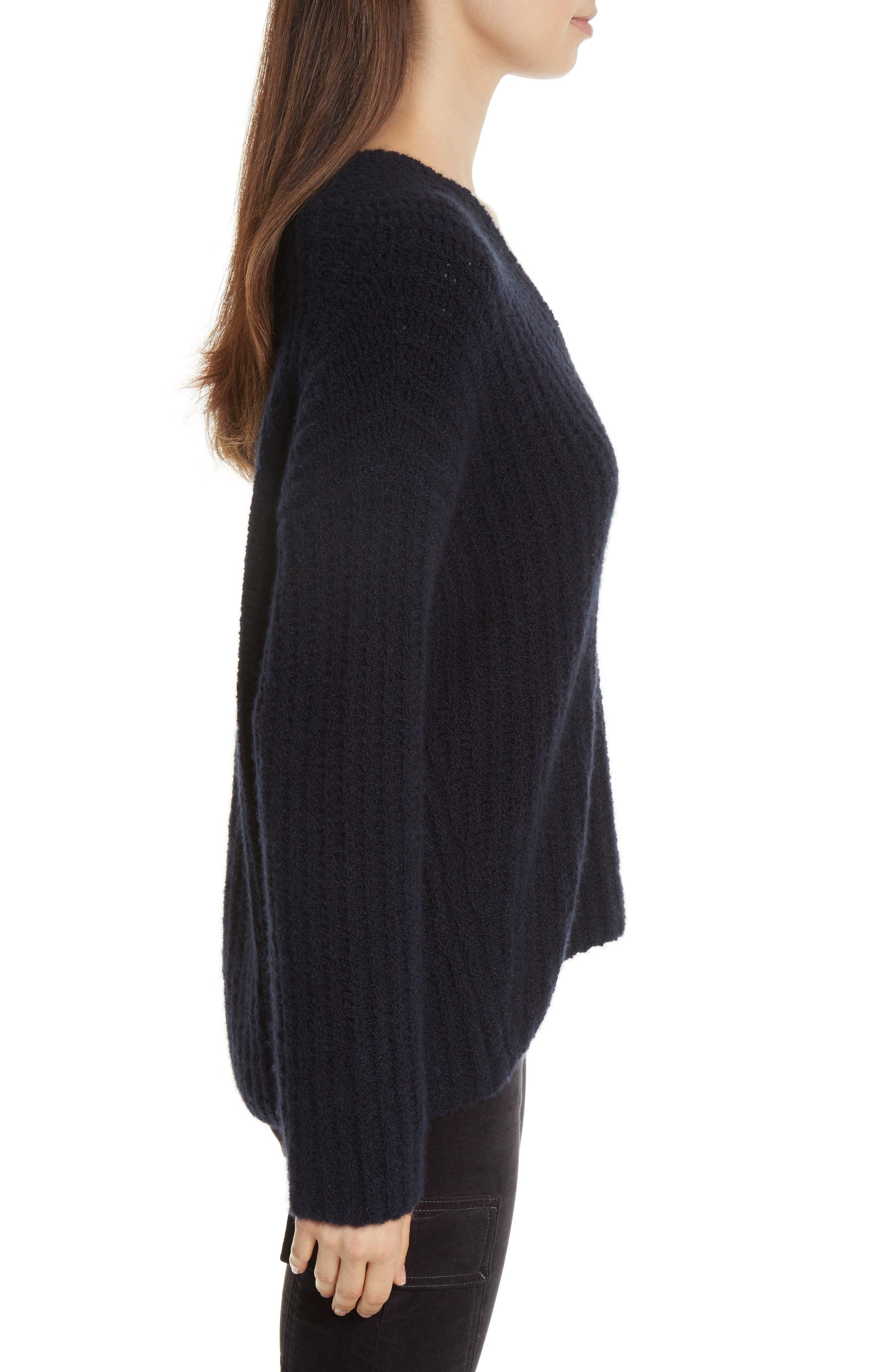 Deep V-Neck Cashmere Blend Sweater,                             Alternate thumbnail 9, color,