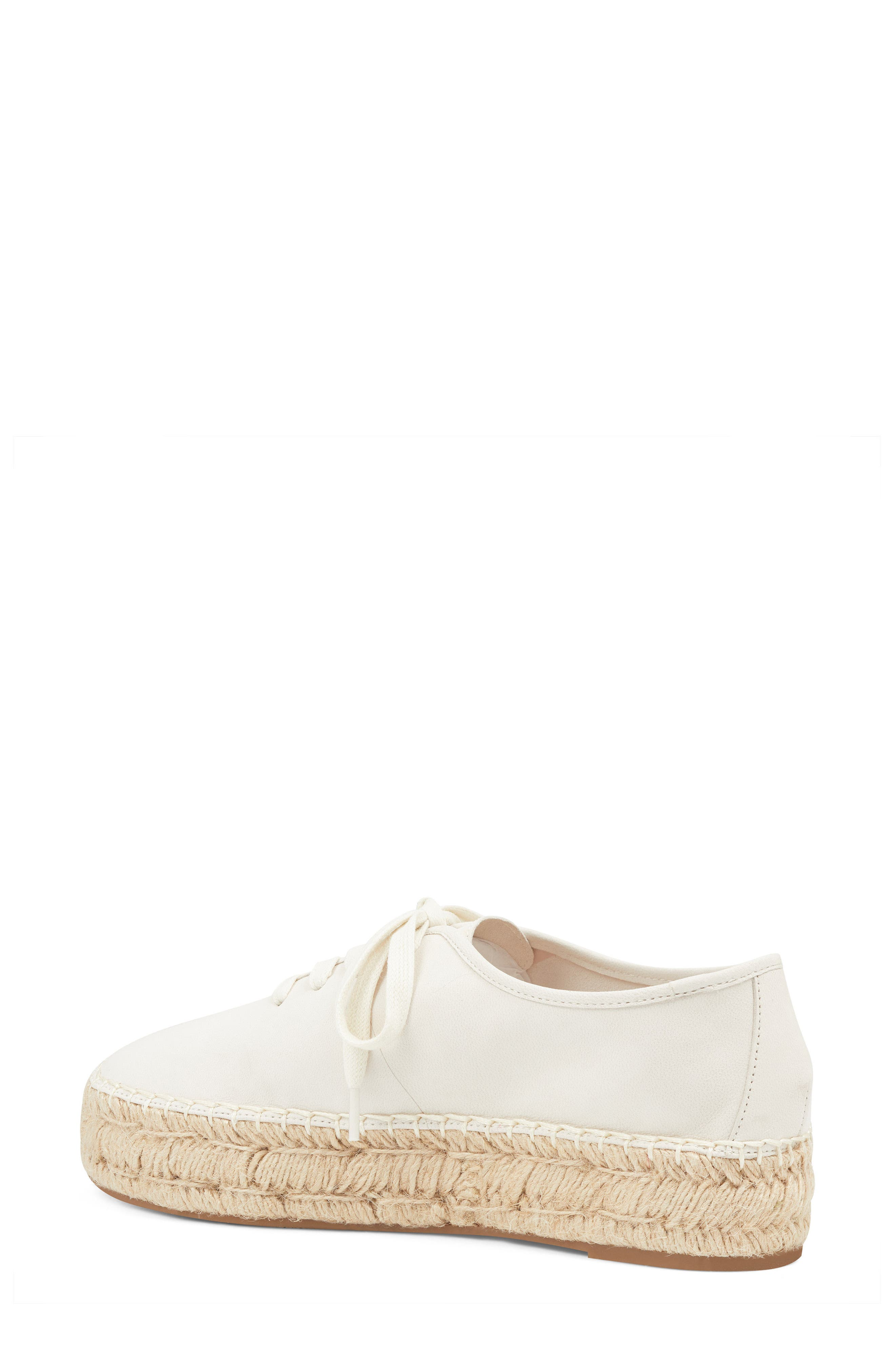 Gingerbread Espadrille Sneaker,                             Alternate thumbnail 2, color,                             OFF WHITE LEATHER