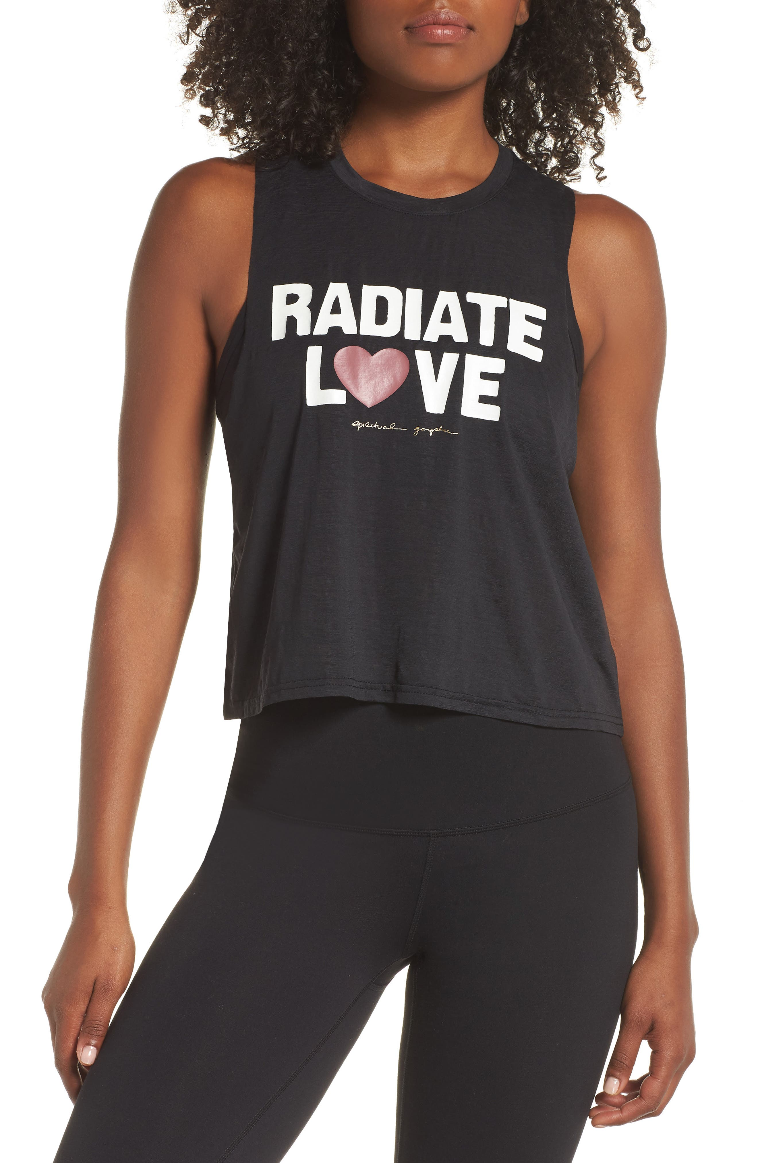 Radiate Love Crop Tank Top,                             Main thumbnail 1, color,                             003
