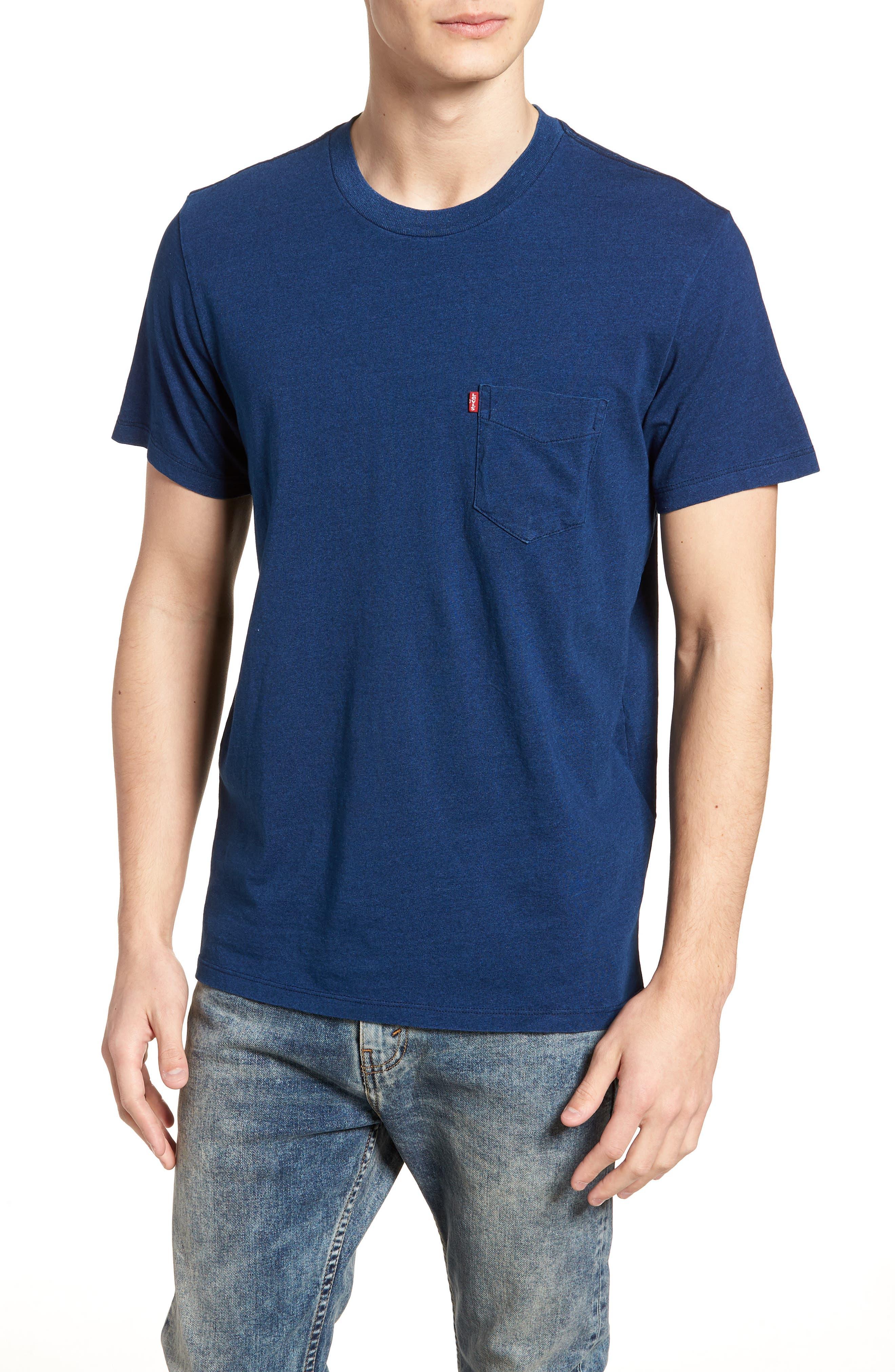 Pocket T-Shirt,                             Main thumbnail 1, color,                             MEDIUM INDIGO XX