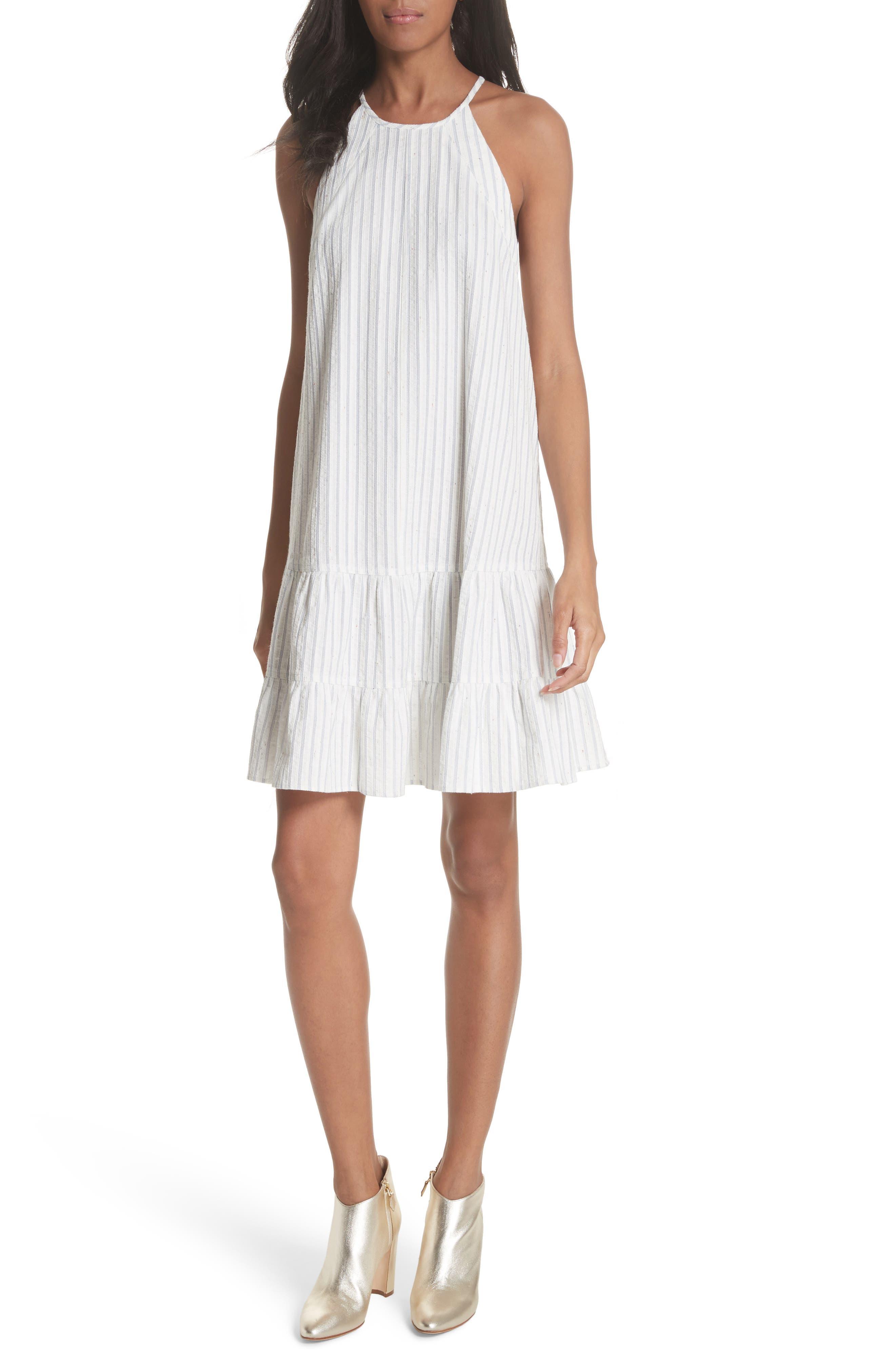 Sleeveless Stripe Tank Dress,                         Main,                         color, 421