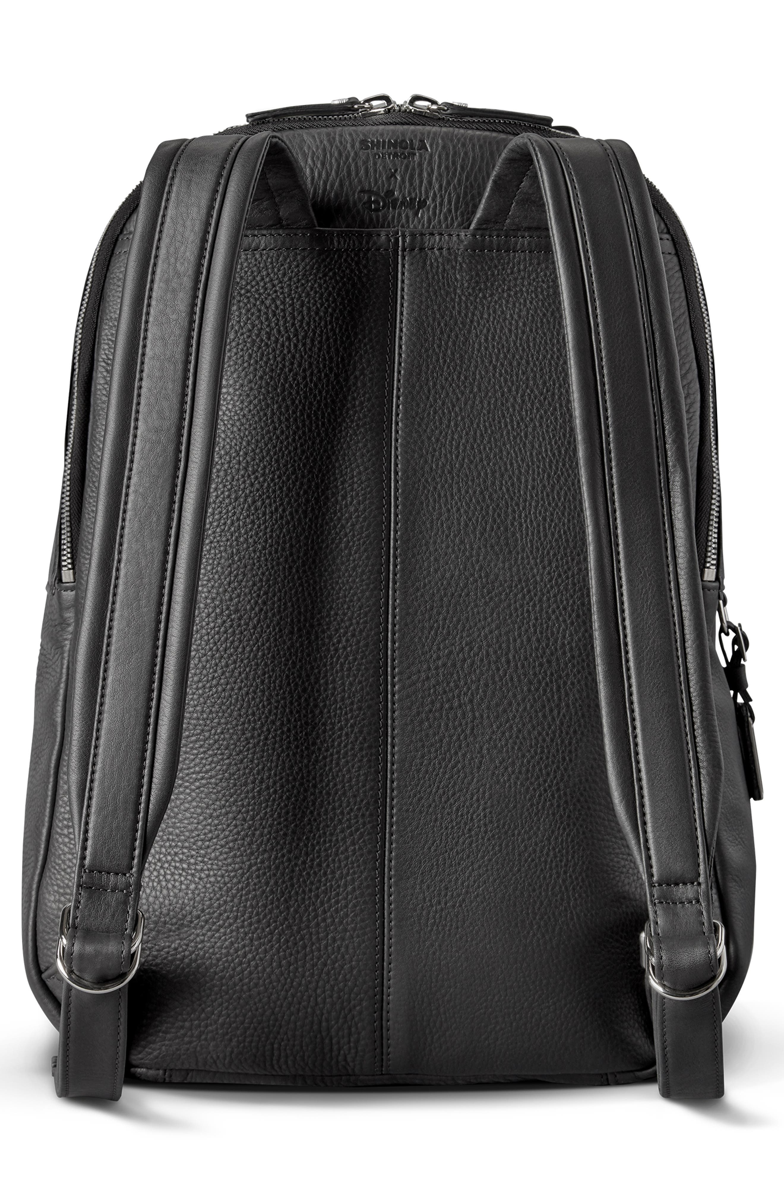 x Disney Runwell Leather Backpack,                             Alternate thumbnail 2, color,                             BLACK