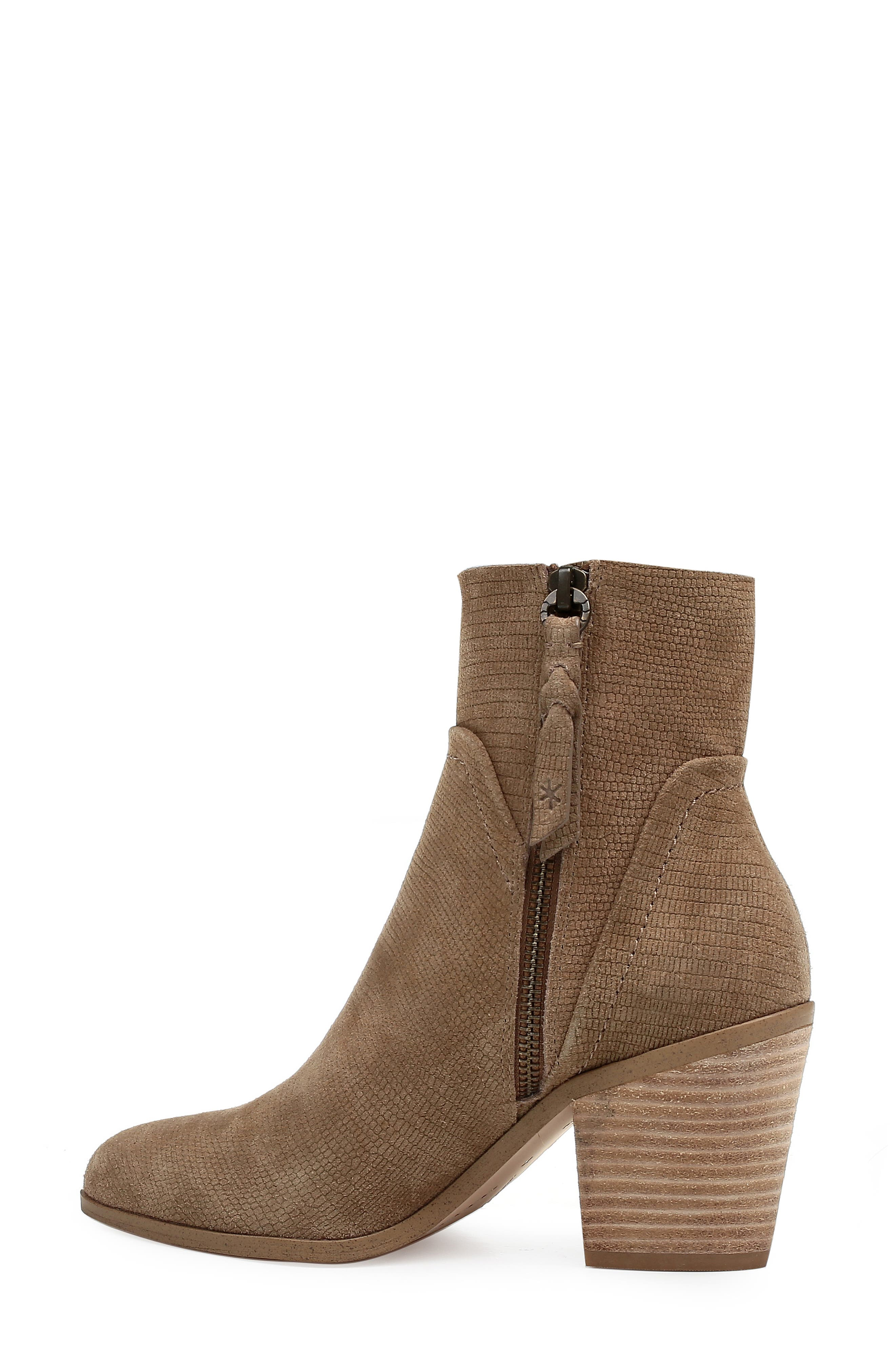 Cherie Bootie,                             Alternate thumbnail 2, color,                             OAT EMBOSSED SUEDE