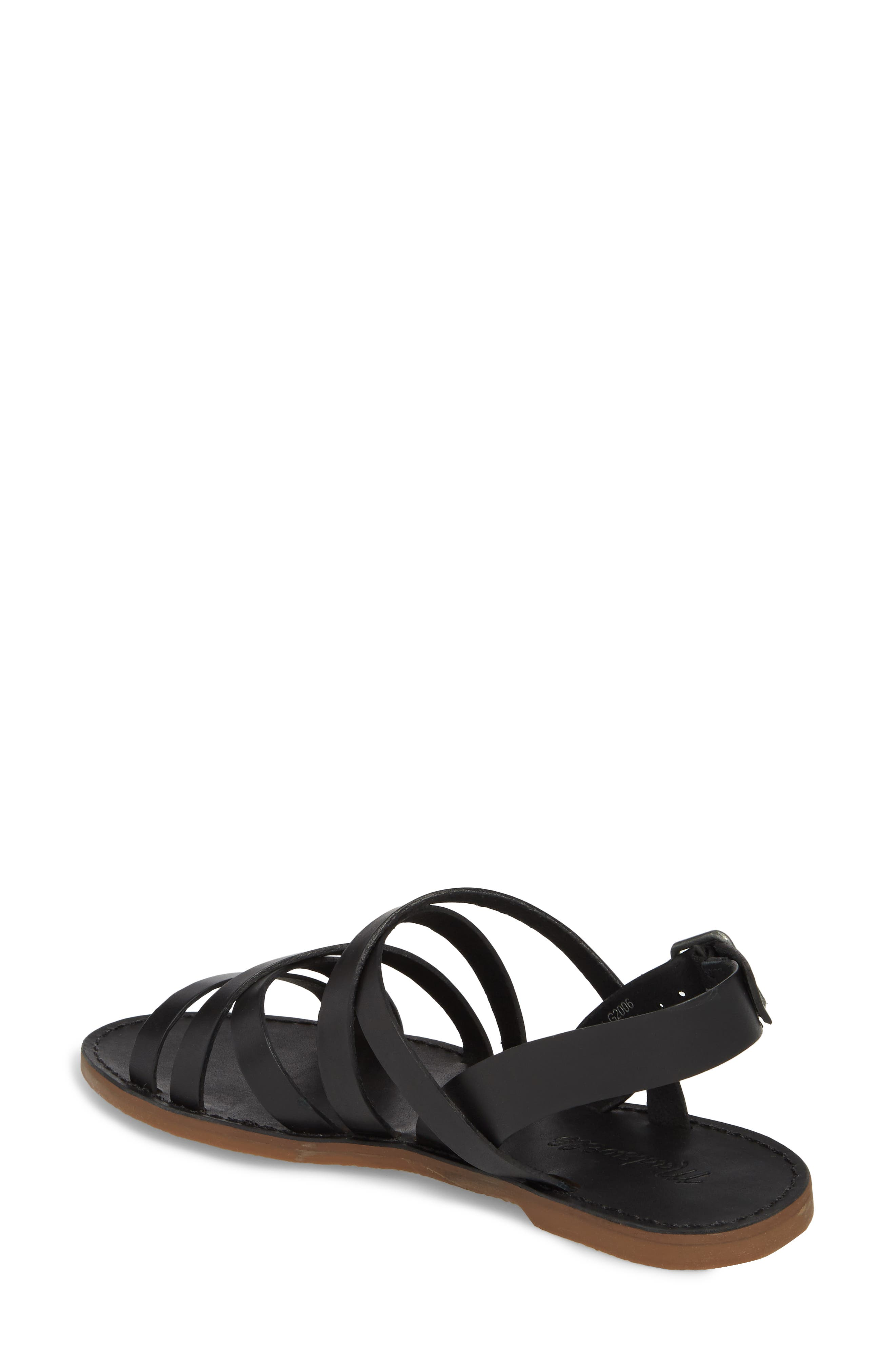 The Boardwalk Multistrap Sandal,                             Alternate thumbnail 2, color,                             TRUE BLACK LEATHER