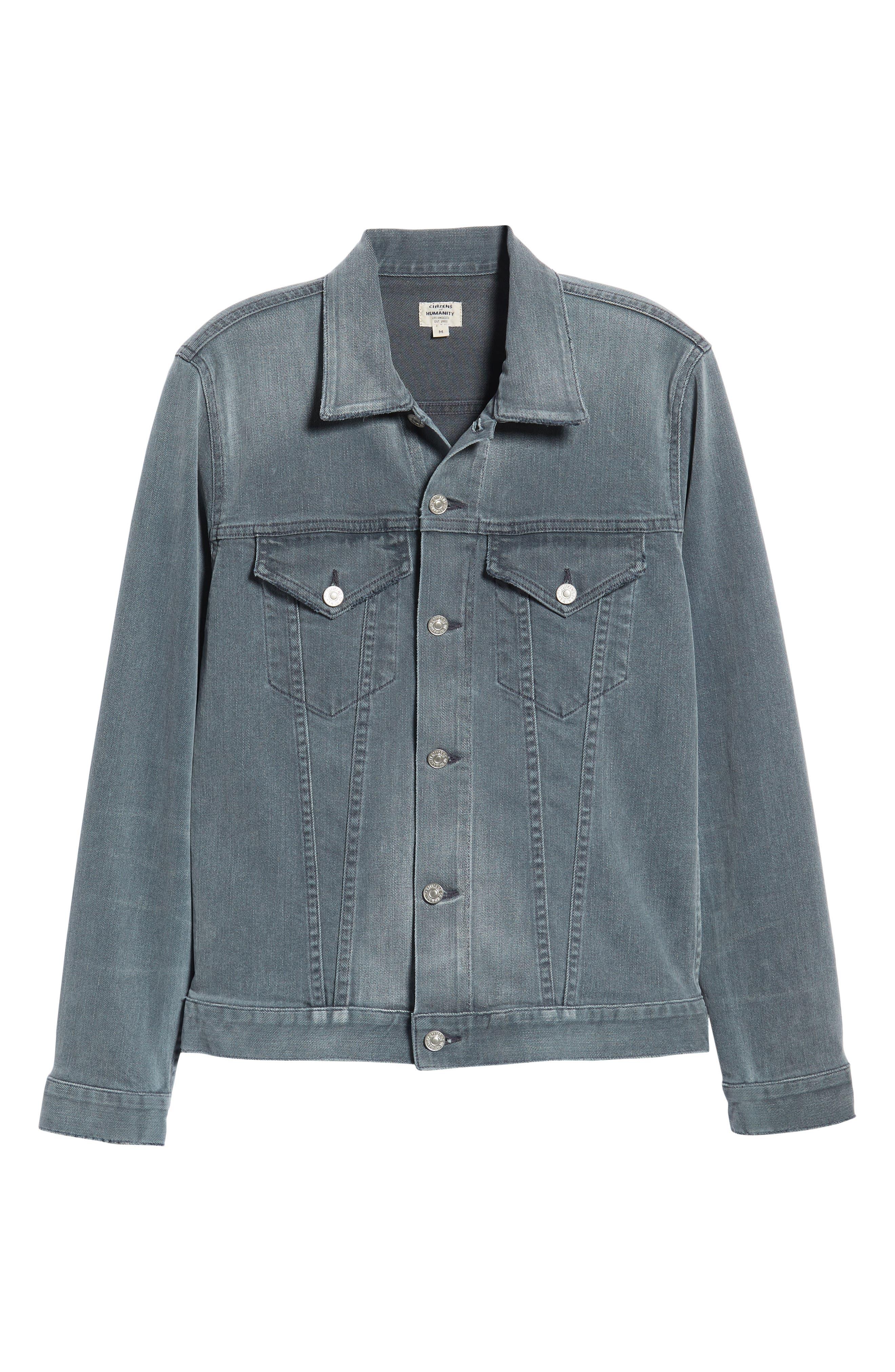 Classic Denim Jacket,                             Alternate thumbnail 6, color,                             VINTAGE GREY