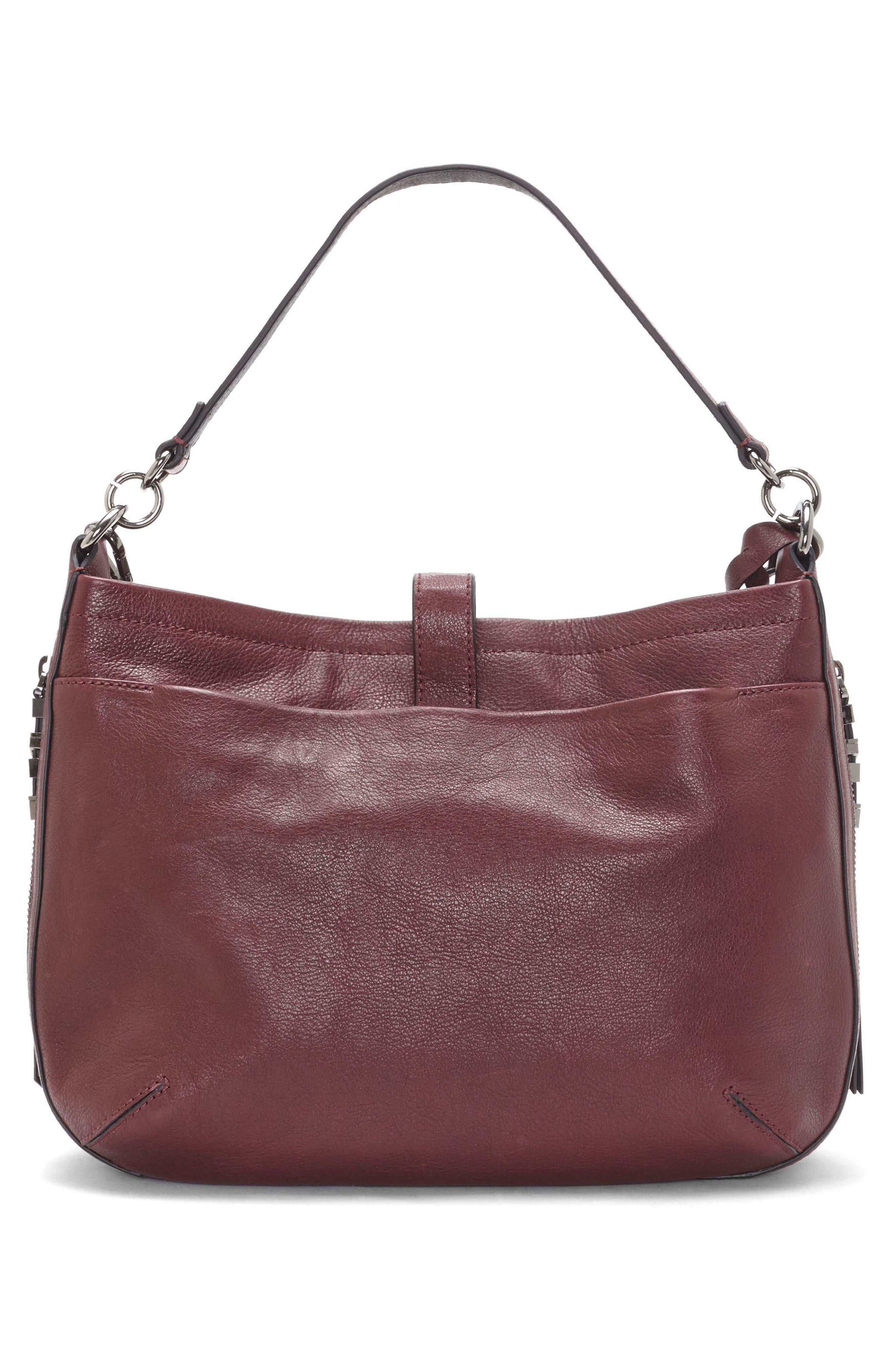 Luk Pleated Leather Shoulder Bag,                             Alternate thumbnail 4, color,