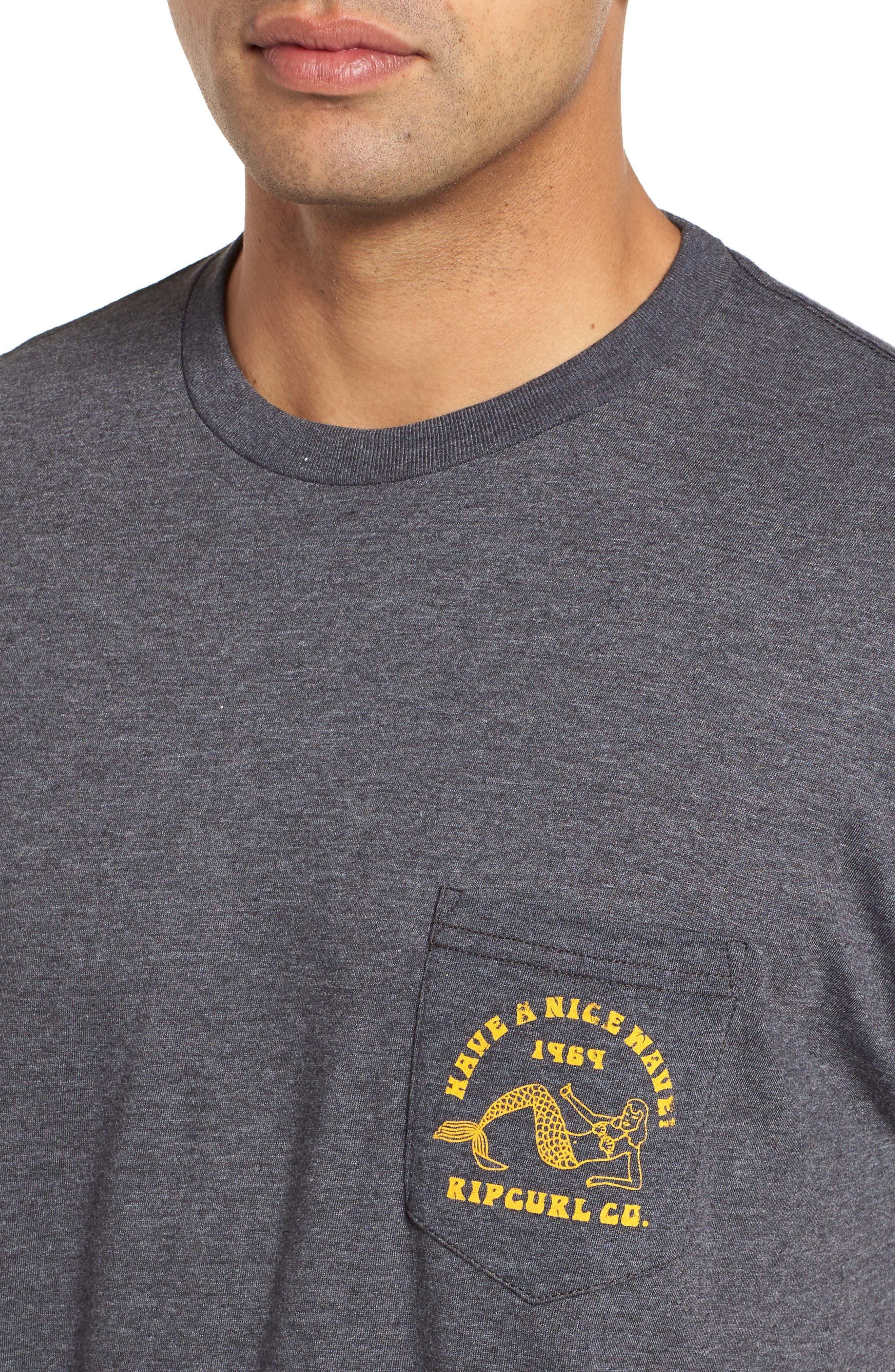 Merman Heathered Pocket T-Shirt,                             Alternate thumbnail 4, color,                             020