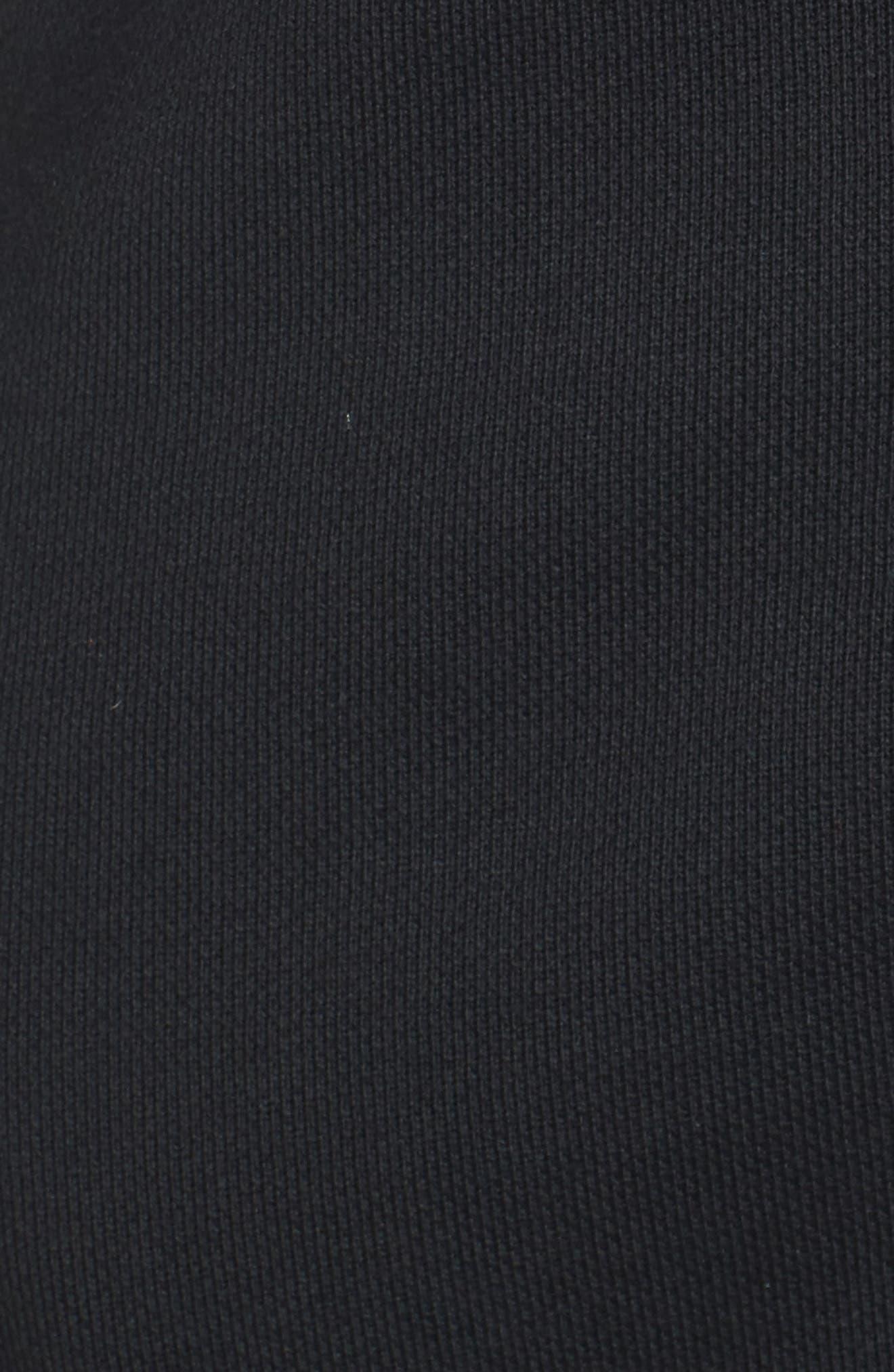 Zip Front Scuba Dress,                             Alternate thumbnail 6, color,                             001