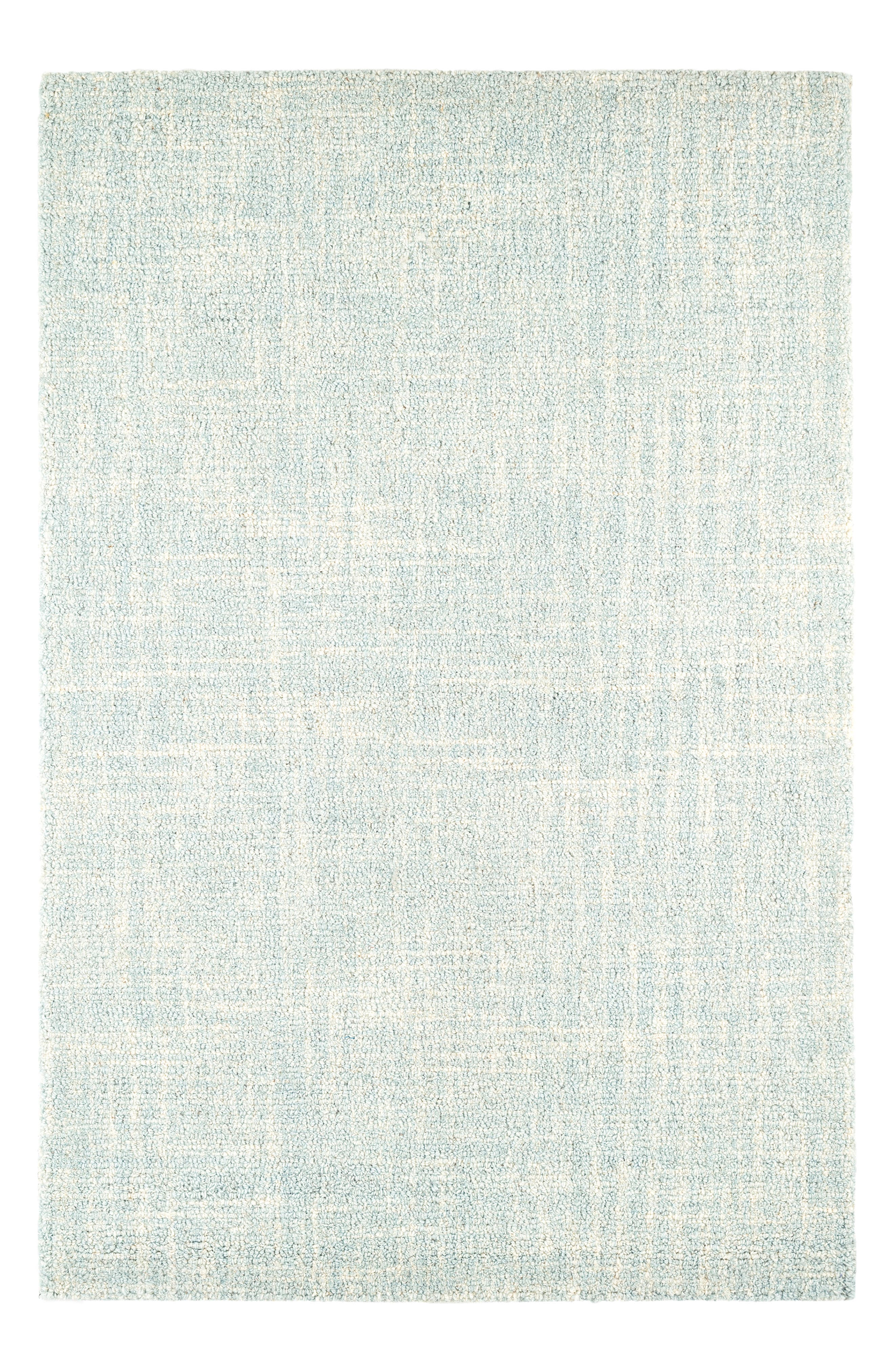 Crosshatch Hooked Wool Rug,                             Main thumbnail 1, color,                             SKY