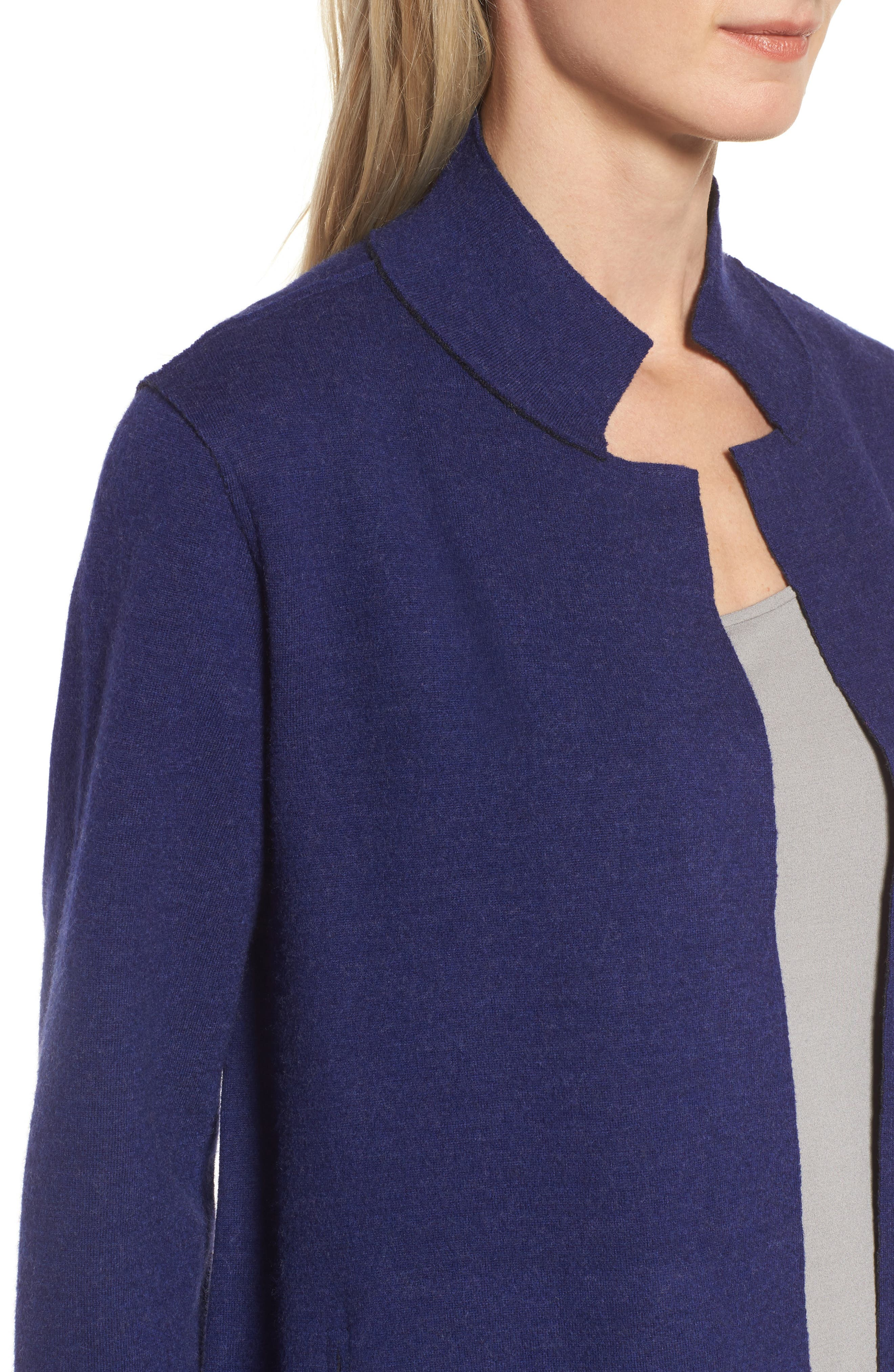 Notch Collar Merino Wool Topper,                             Alternate thumbnail 14, color,