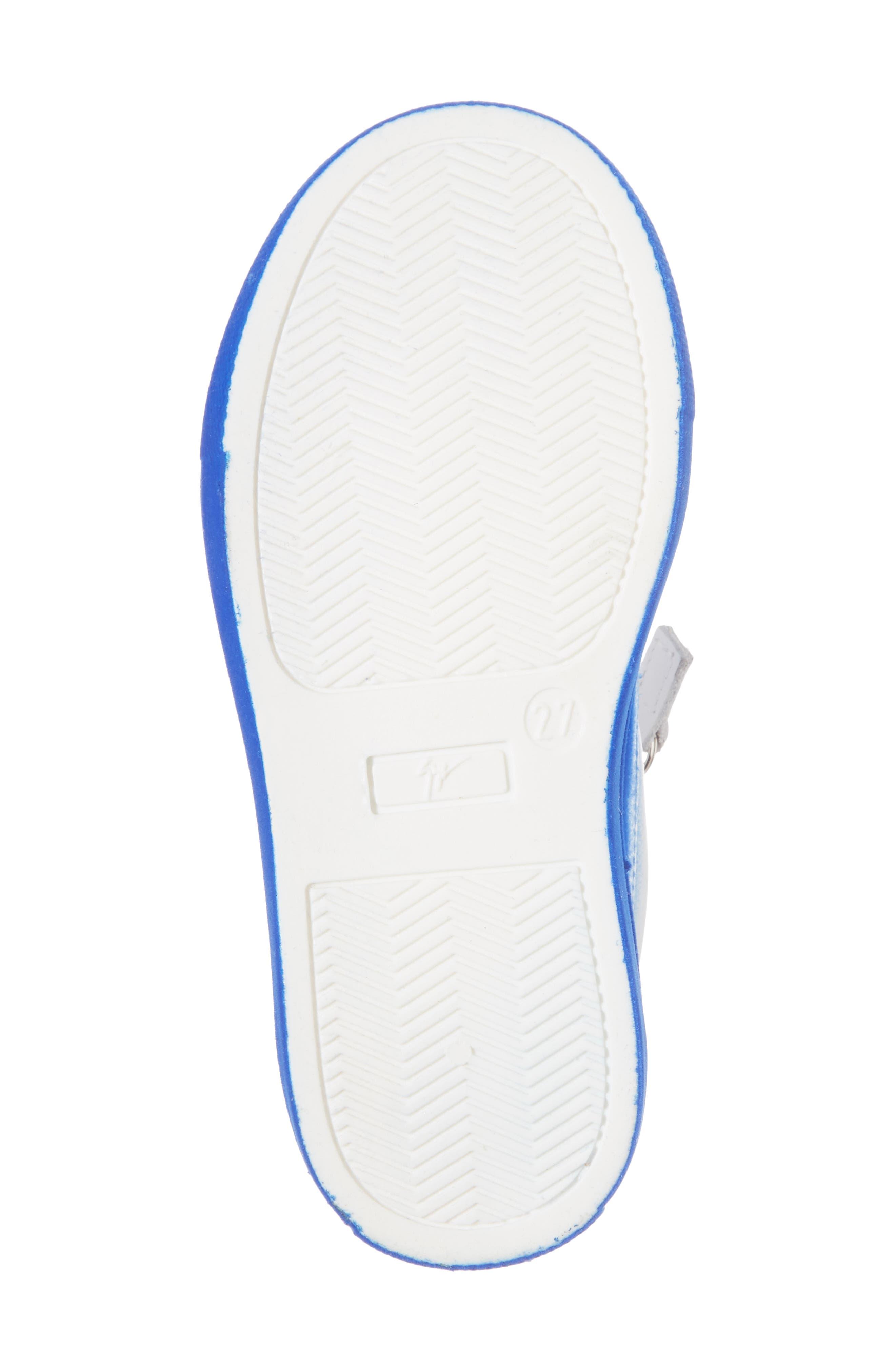 Smuggy Ombré Flocked Sneaker,                             Alternate thumbnail 6, color,                             BLUE/ WHITE