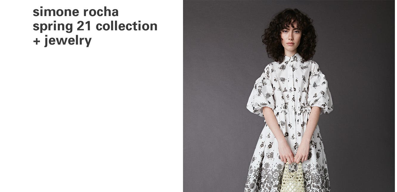 Fashion news: Simone Rocha Spring 2021 collection and jewelry.