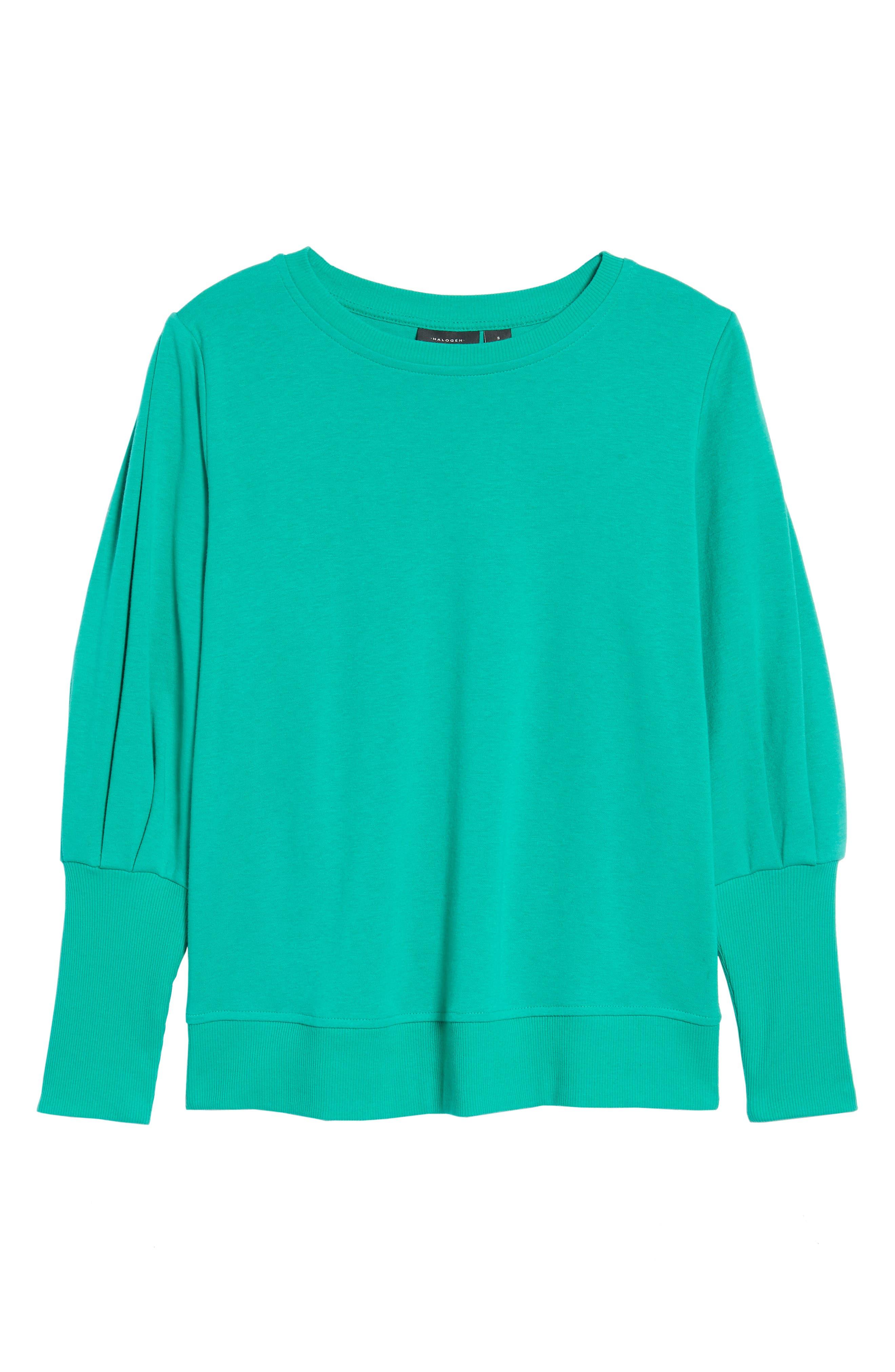 Blouson Sleeve Sweatshirt,                             Alternate thumbnail 28, color,