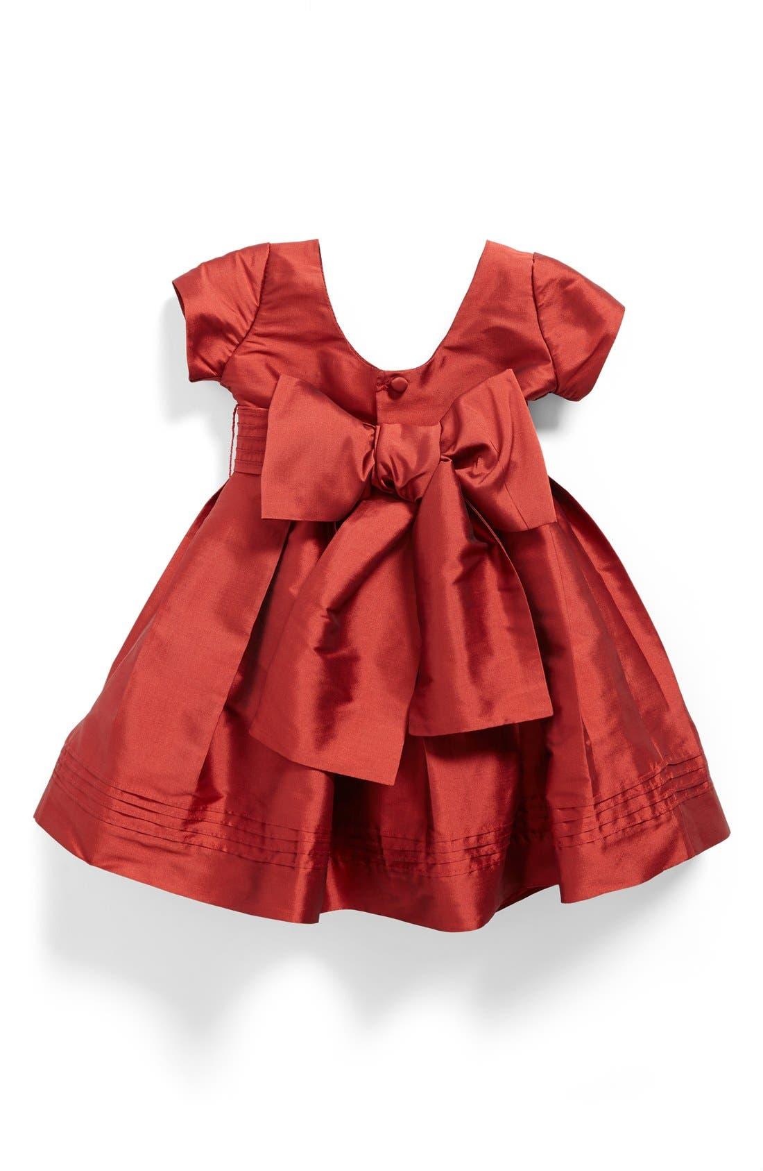 Cap Sleeve Taffeta Dress,                             Alternate thumbnail 2, color,                             600