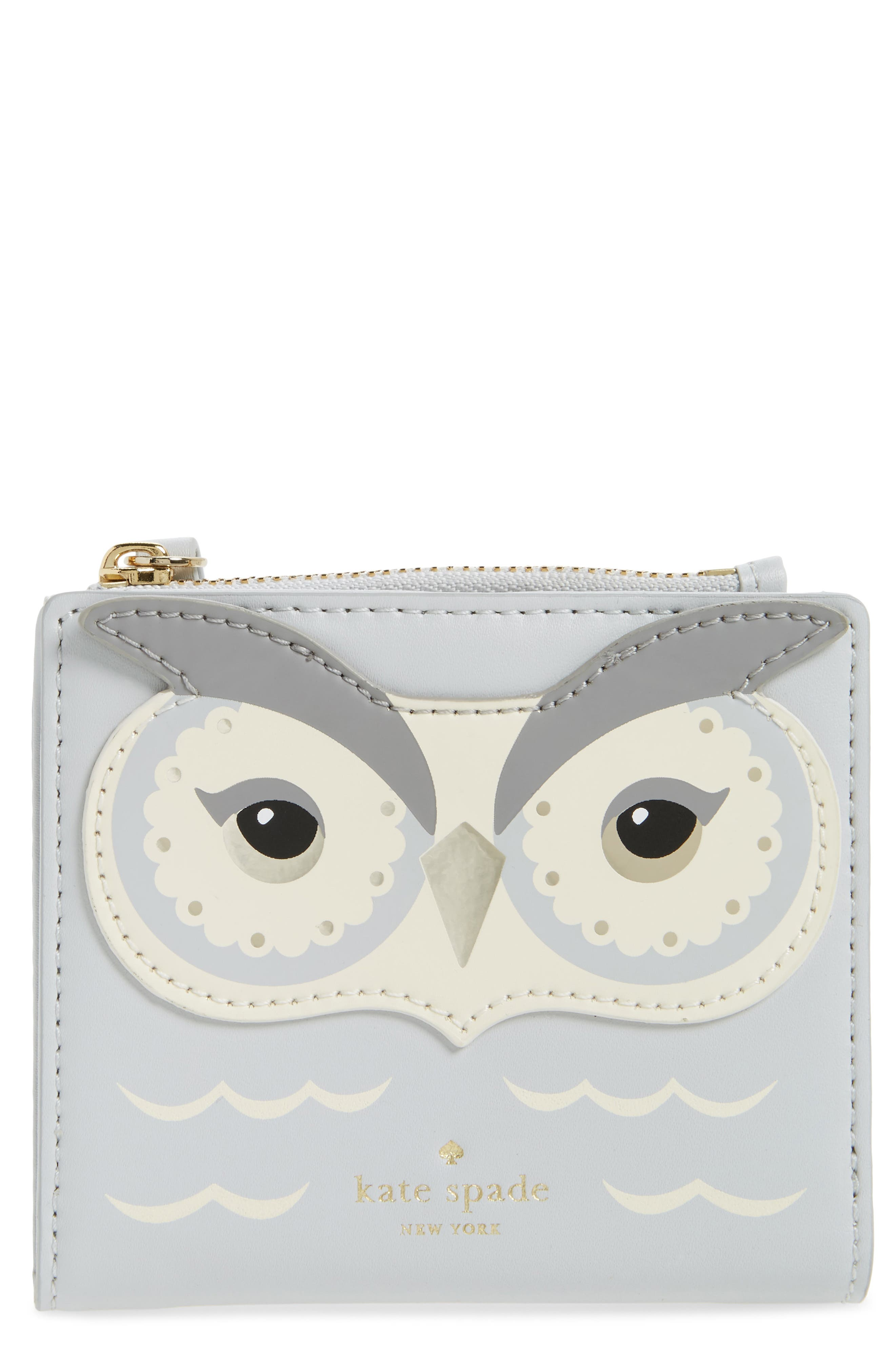 starbright owl adalyn leather card wallet,                             Main thumbnail 1, color,                             100