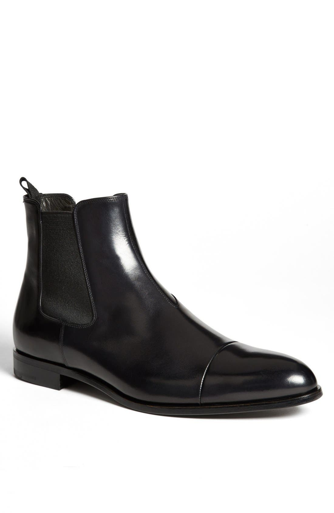 Cap Toe Chelsea Boot, Main, color, 001