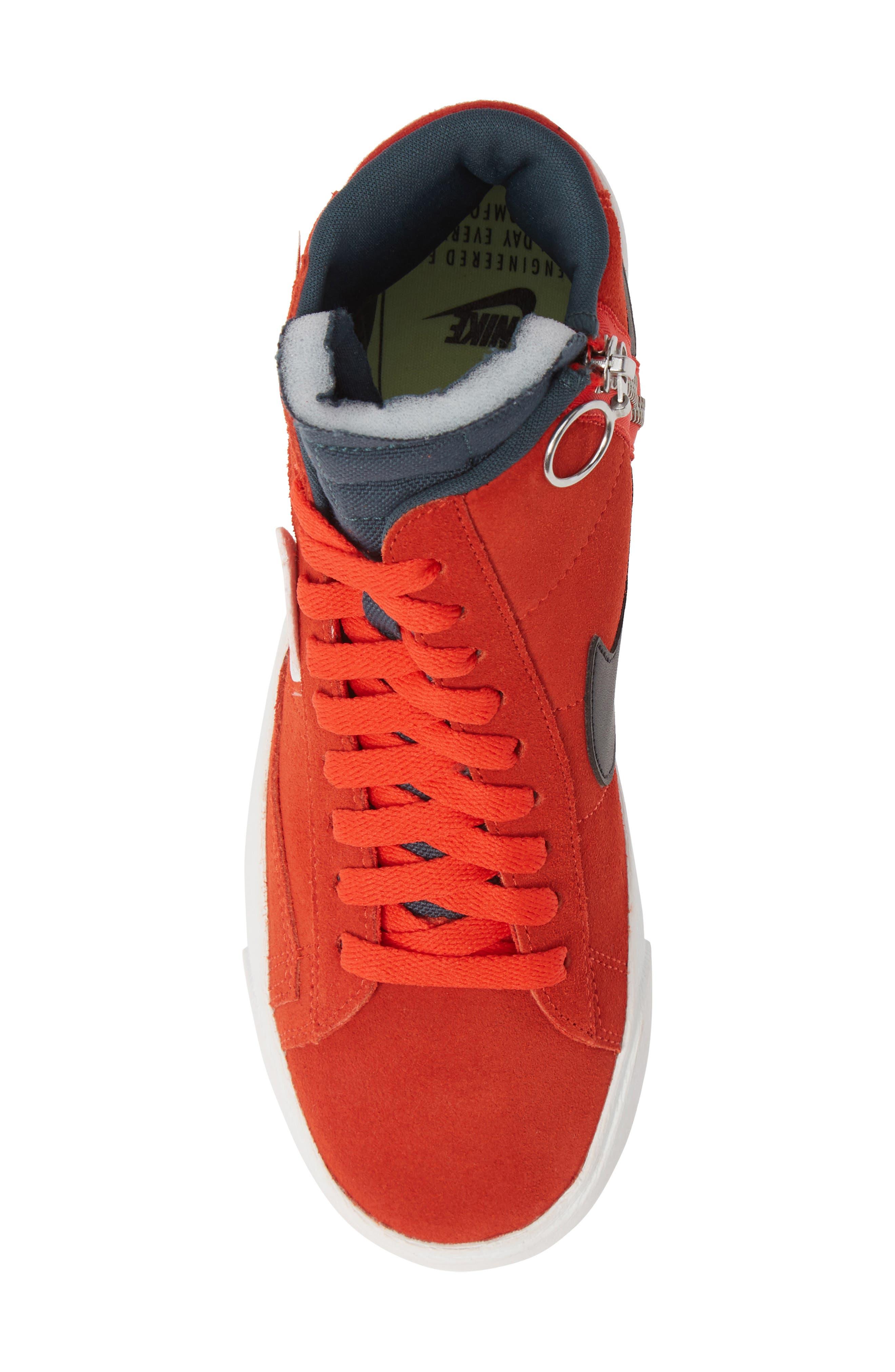Blazer Mid Rebel Sneaker,                             Alternate thumbnail 5, color,                             HABANERO/ WHITE/ BLACK/ SPRUCE