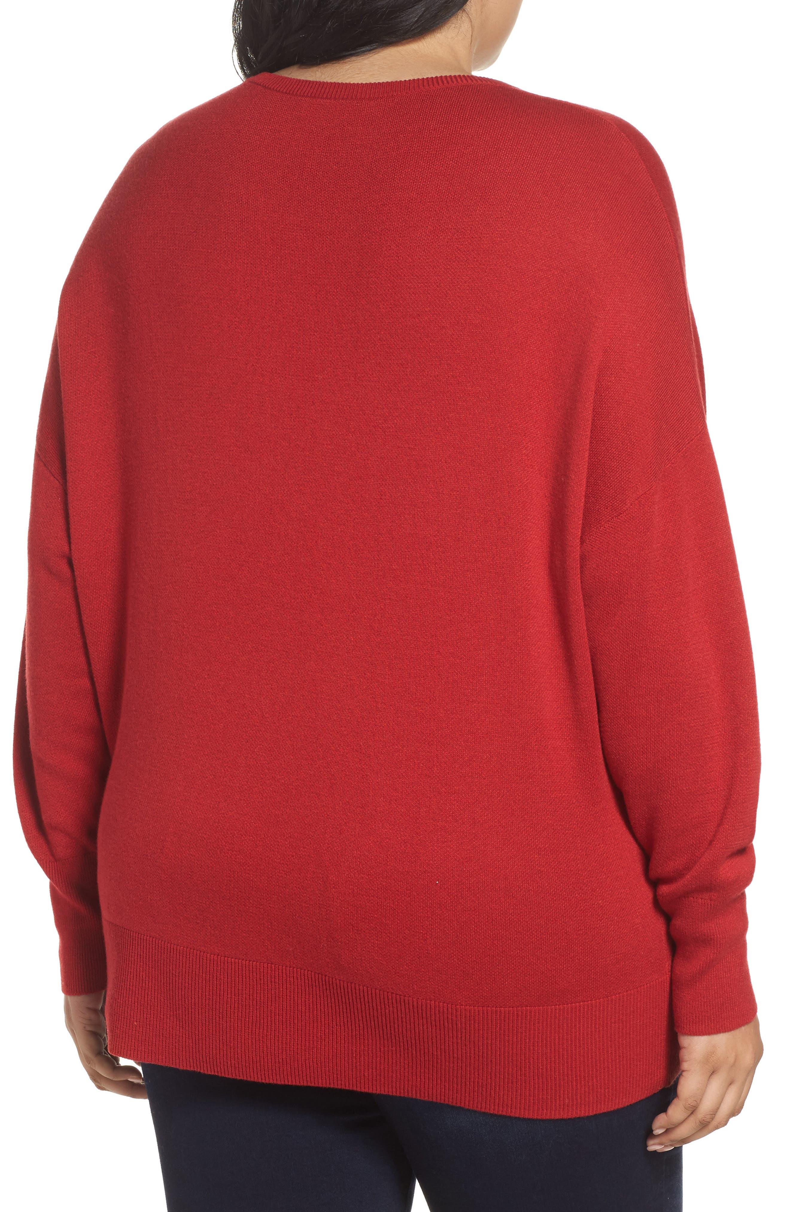 Dolman Sleeve Crewneck Sweater,                             Alternate thumbnail 10, color,