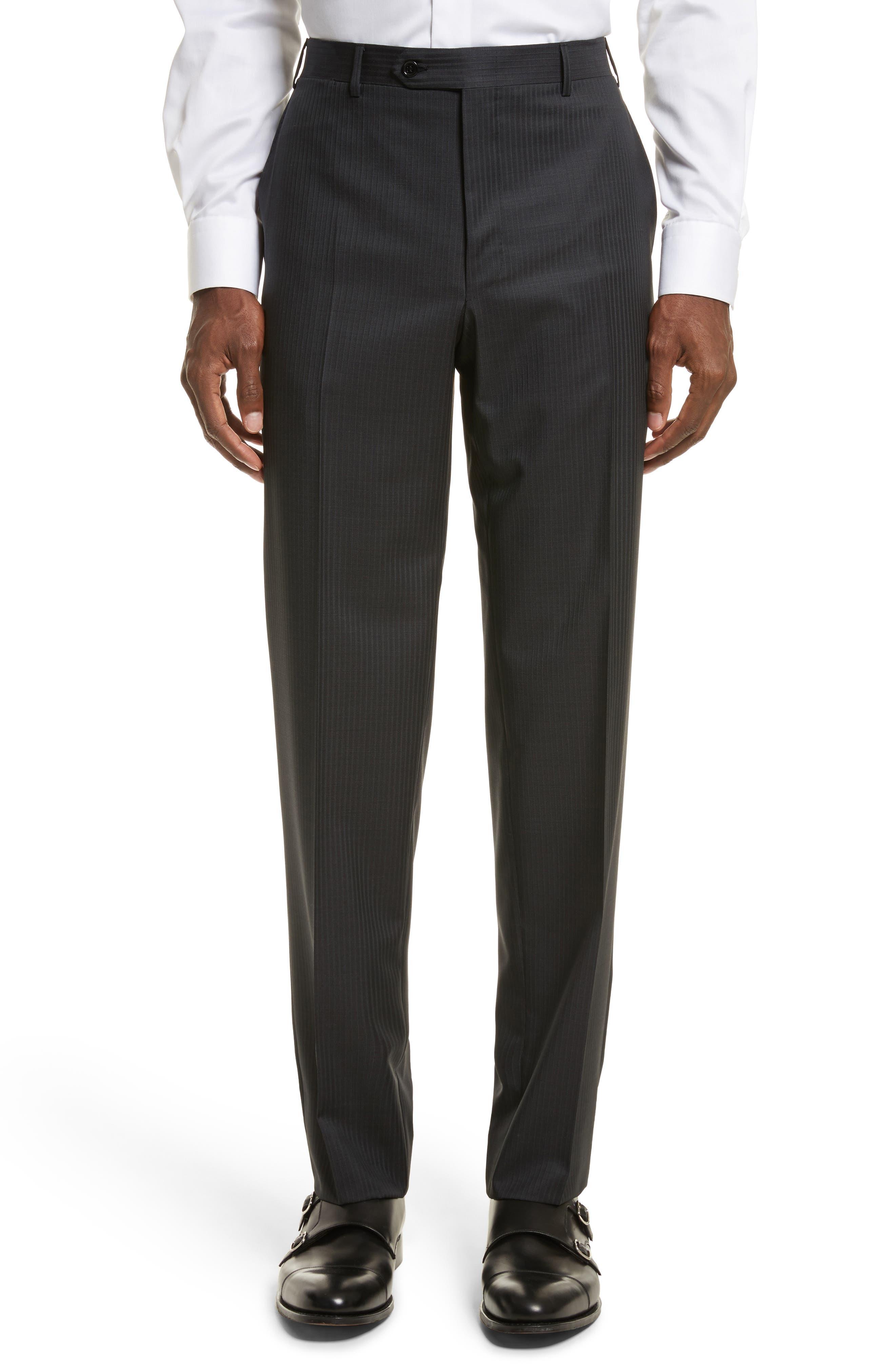 Classic Fit Stripe Wool Suit,                             Alternate thumbnail 6, color,                             020