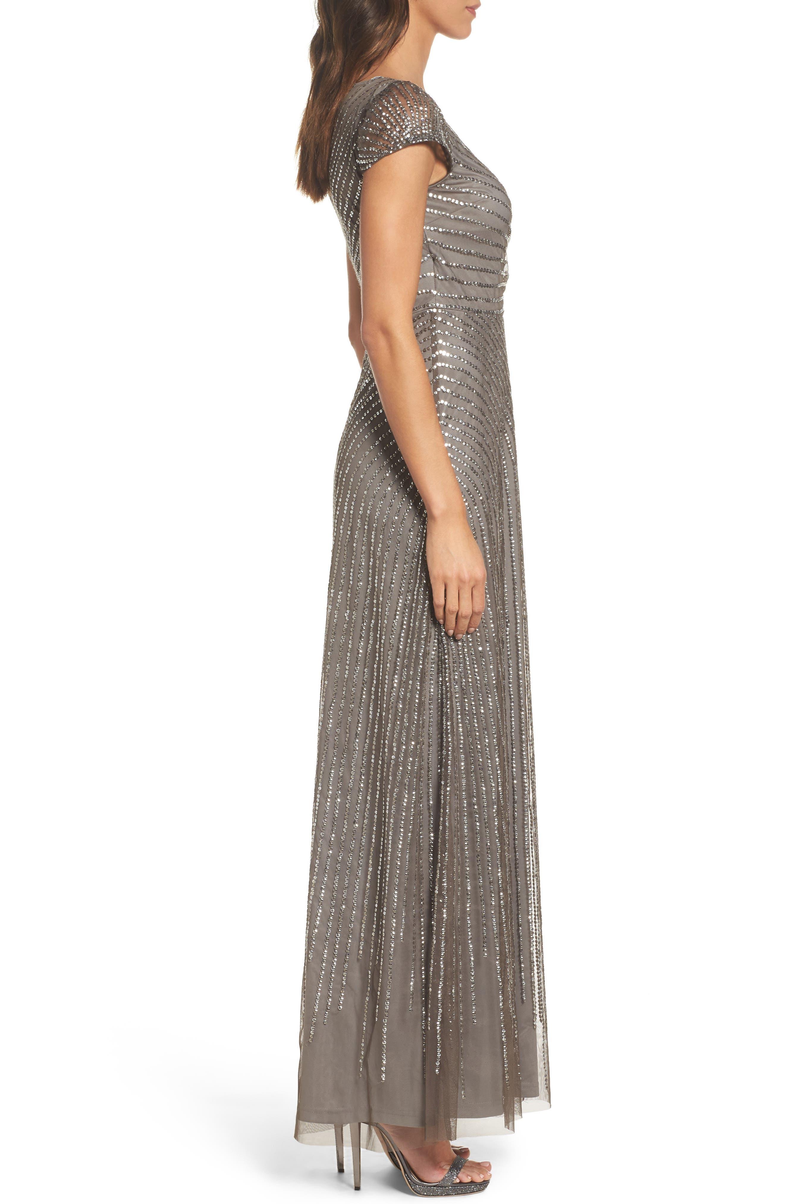 Sequin Gown,                             Alternate thumbnail 3, color,                             020