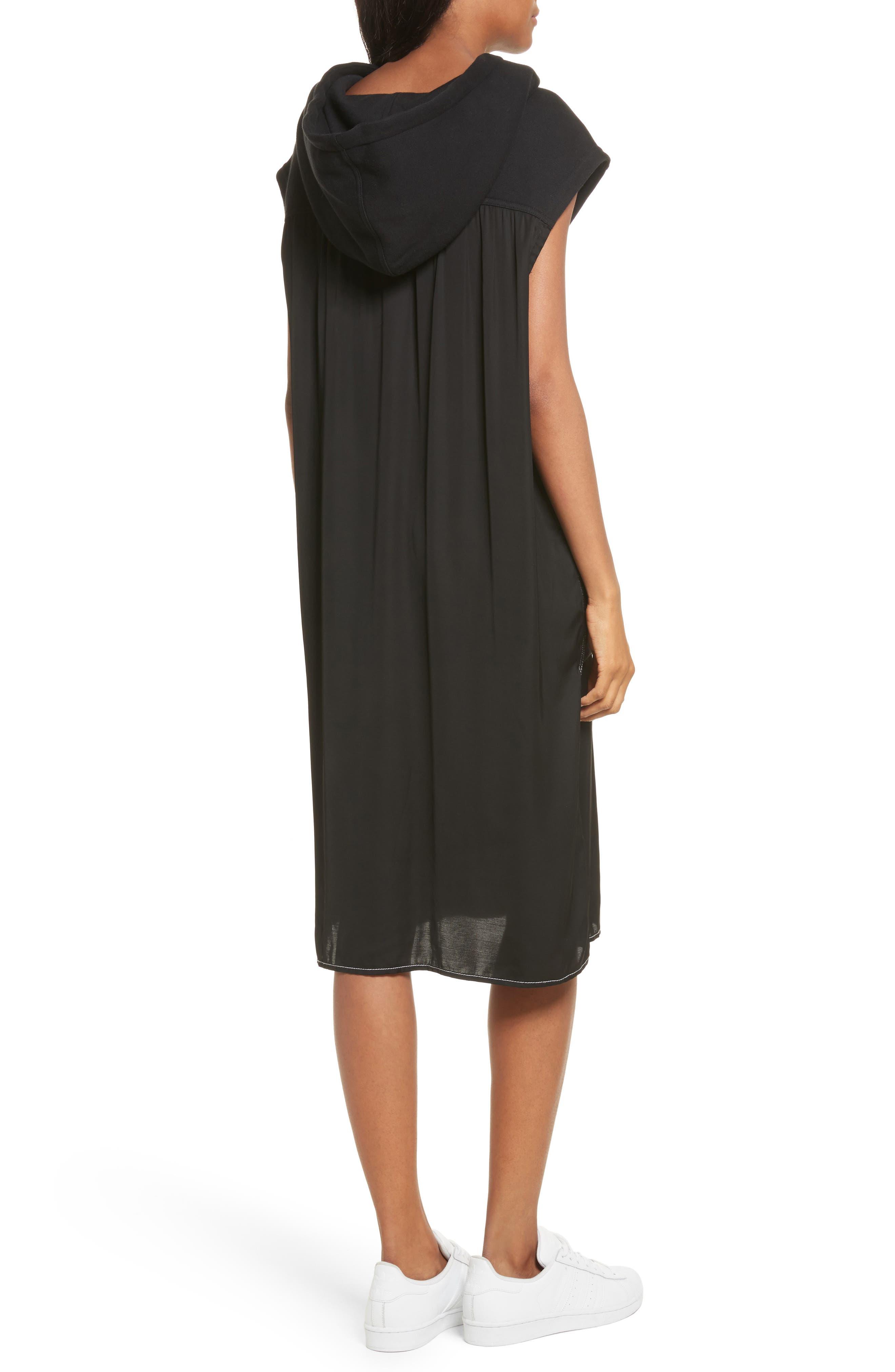 Allison Cotton Hoodie Dress,                             Alternate thumbnail 2, color,                             001