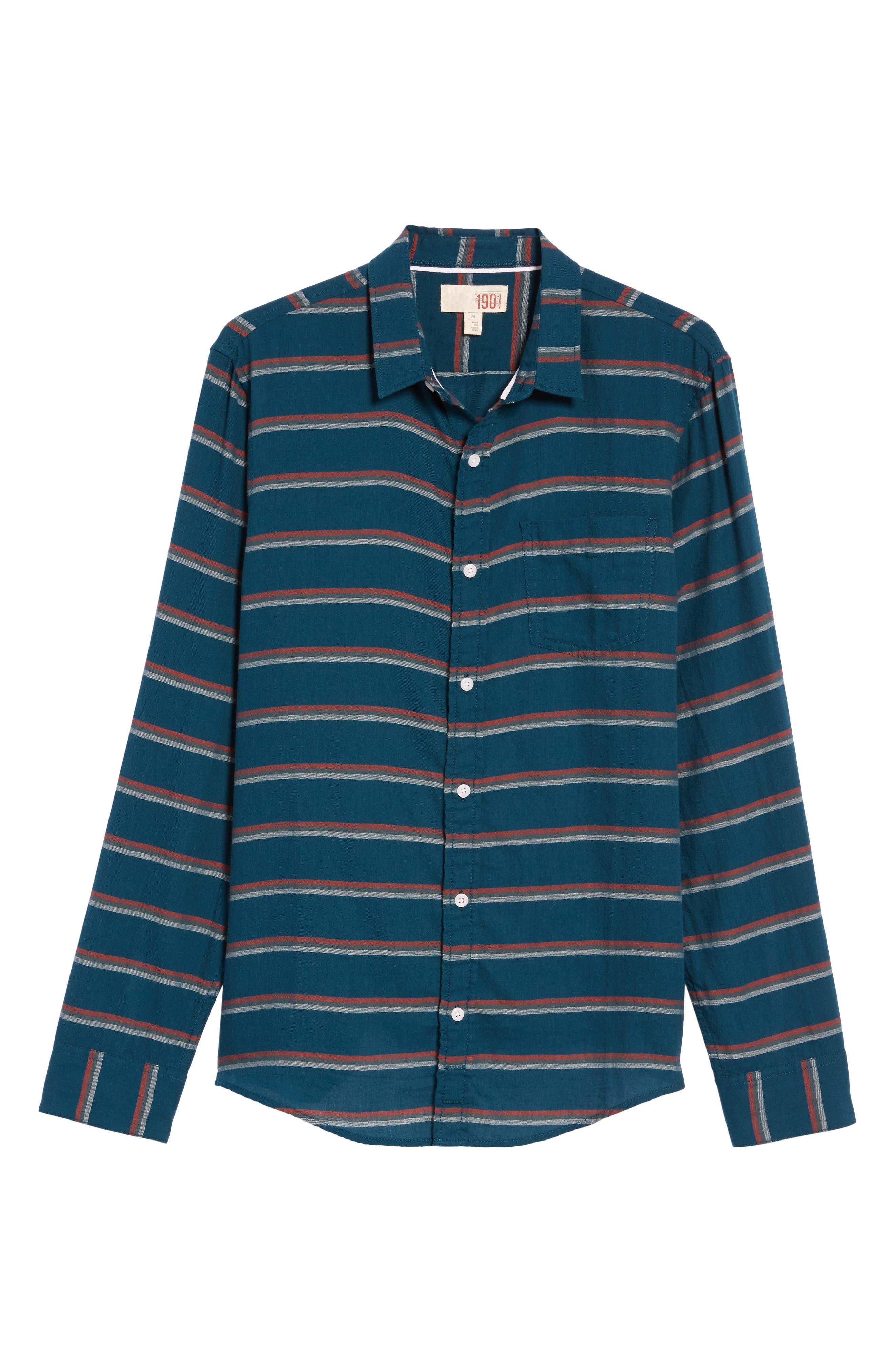 Stripe Twill Shirt,                             Alternate thumbnail 12, color,