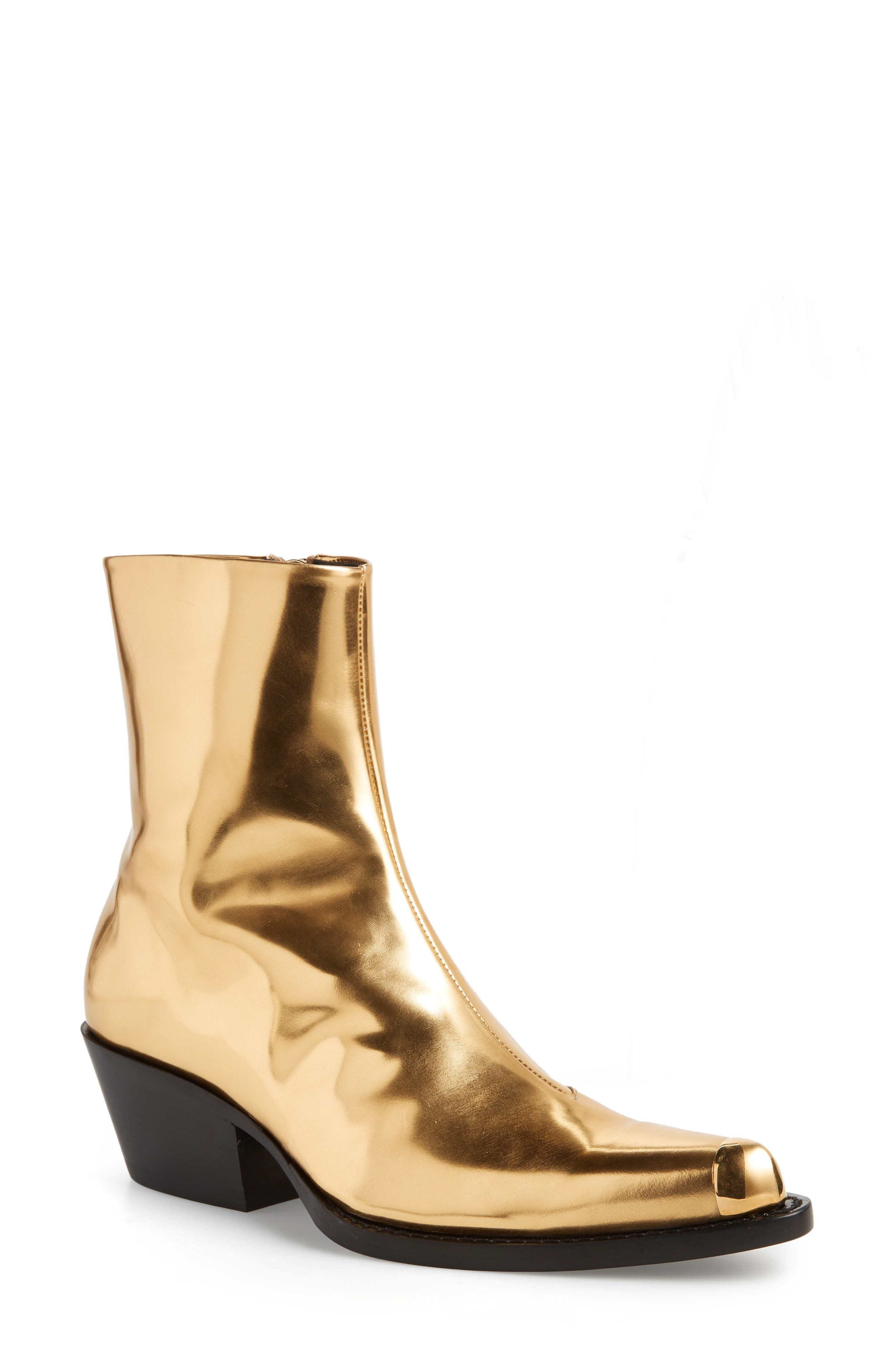 Tex Tarrana Metallic Bootie,                         Main,                         color, GOLD