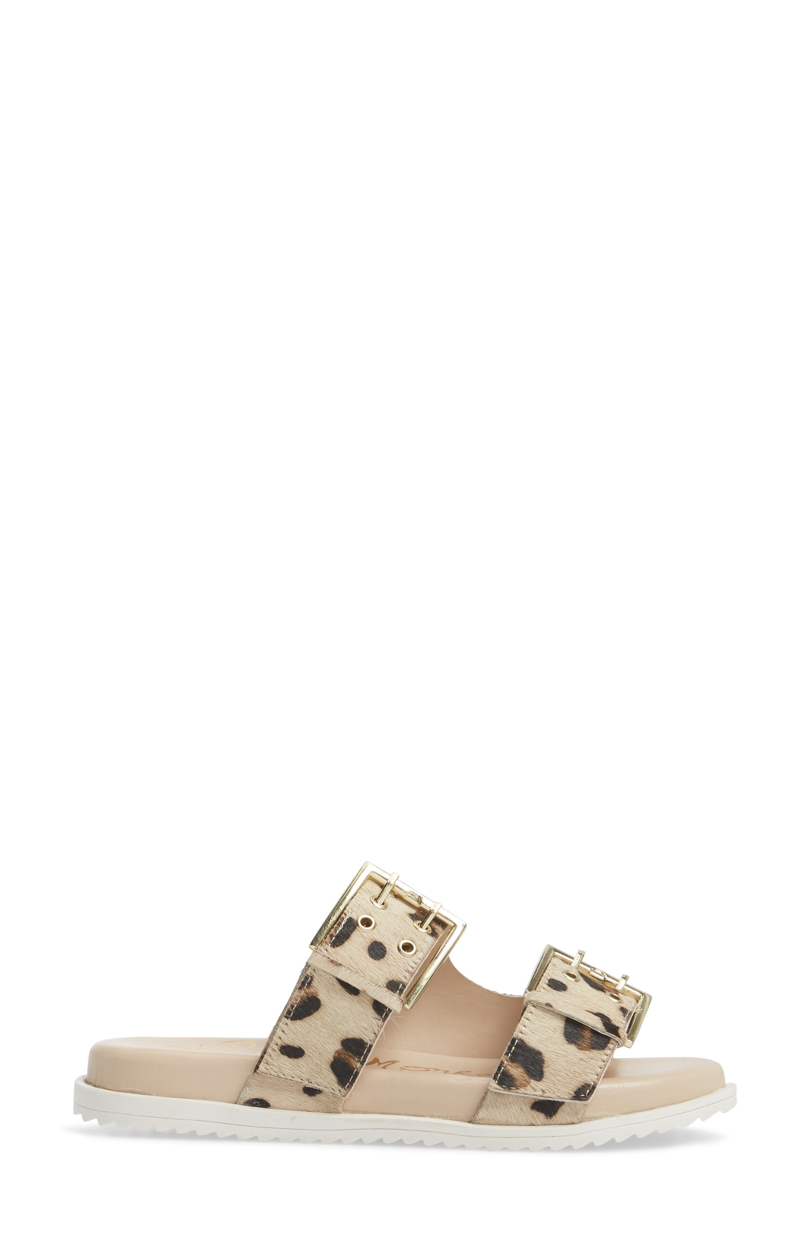 Genuine Calf Hair Double Strap Sandal,                             Alternate thumbnail 6, color,