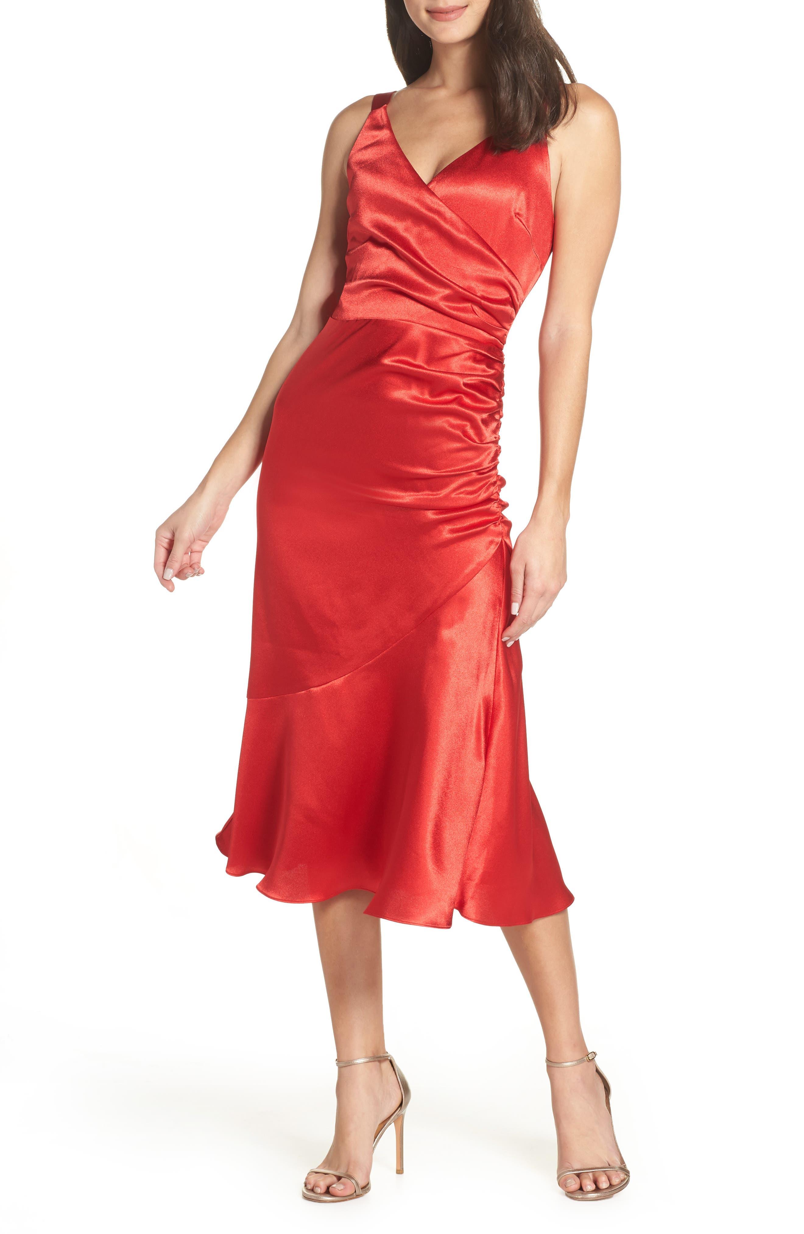 Chelsea28 Ruched Midi Dress