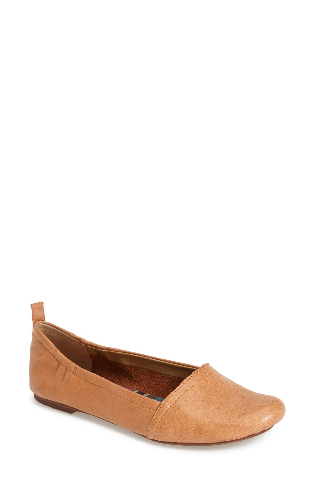 'Bettie' Leather Flat,                             Main thumbnail 4, color,