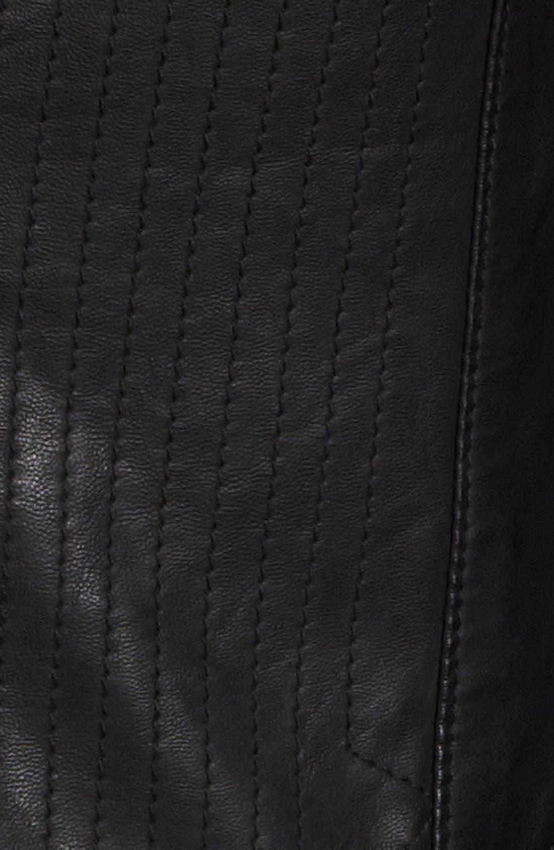 Faux Leather Jacket,                             Alternate thumbnail 3, color,                             001