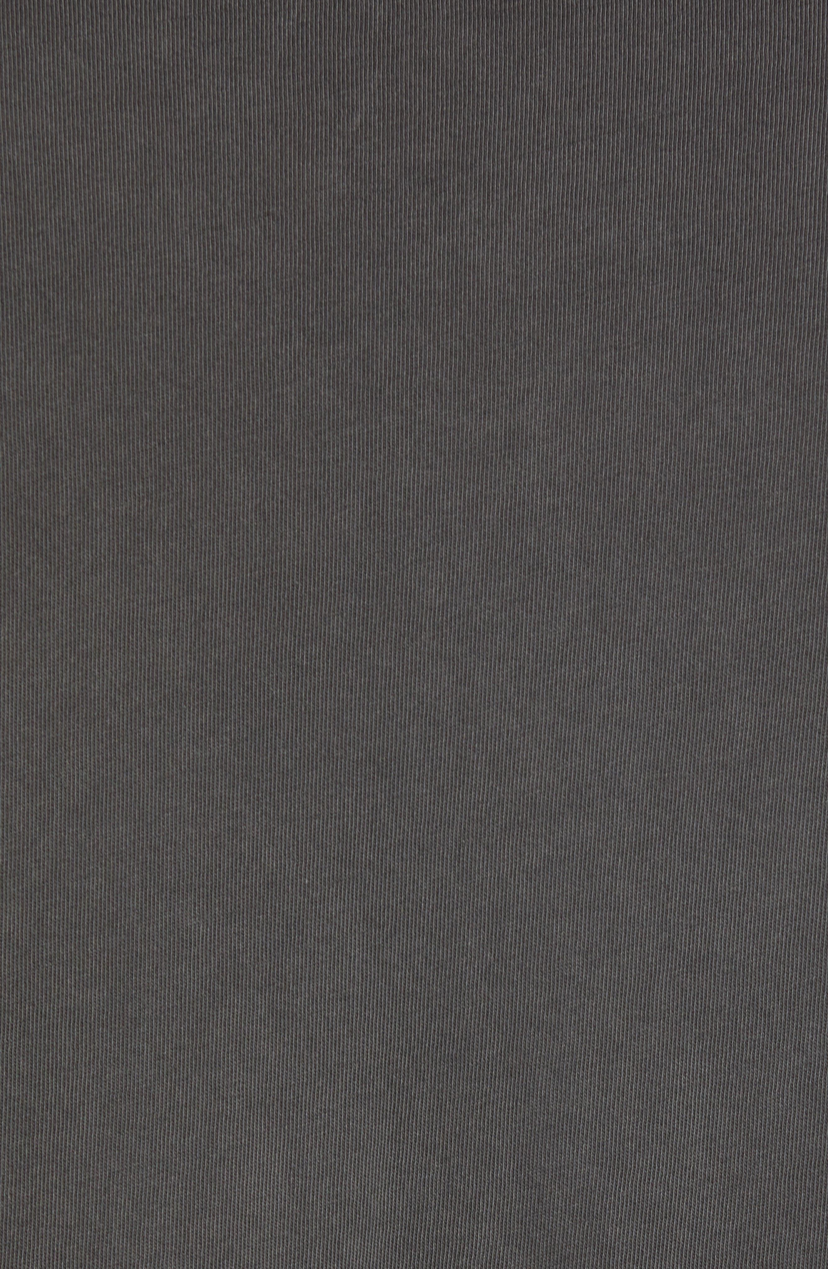 Starkton Solid V-Neck T-Shirt,                             Alternate thumbnail 5, color,                             DARK BLACK