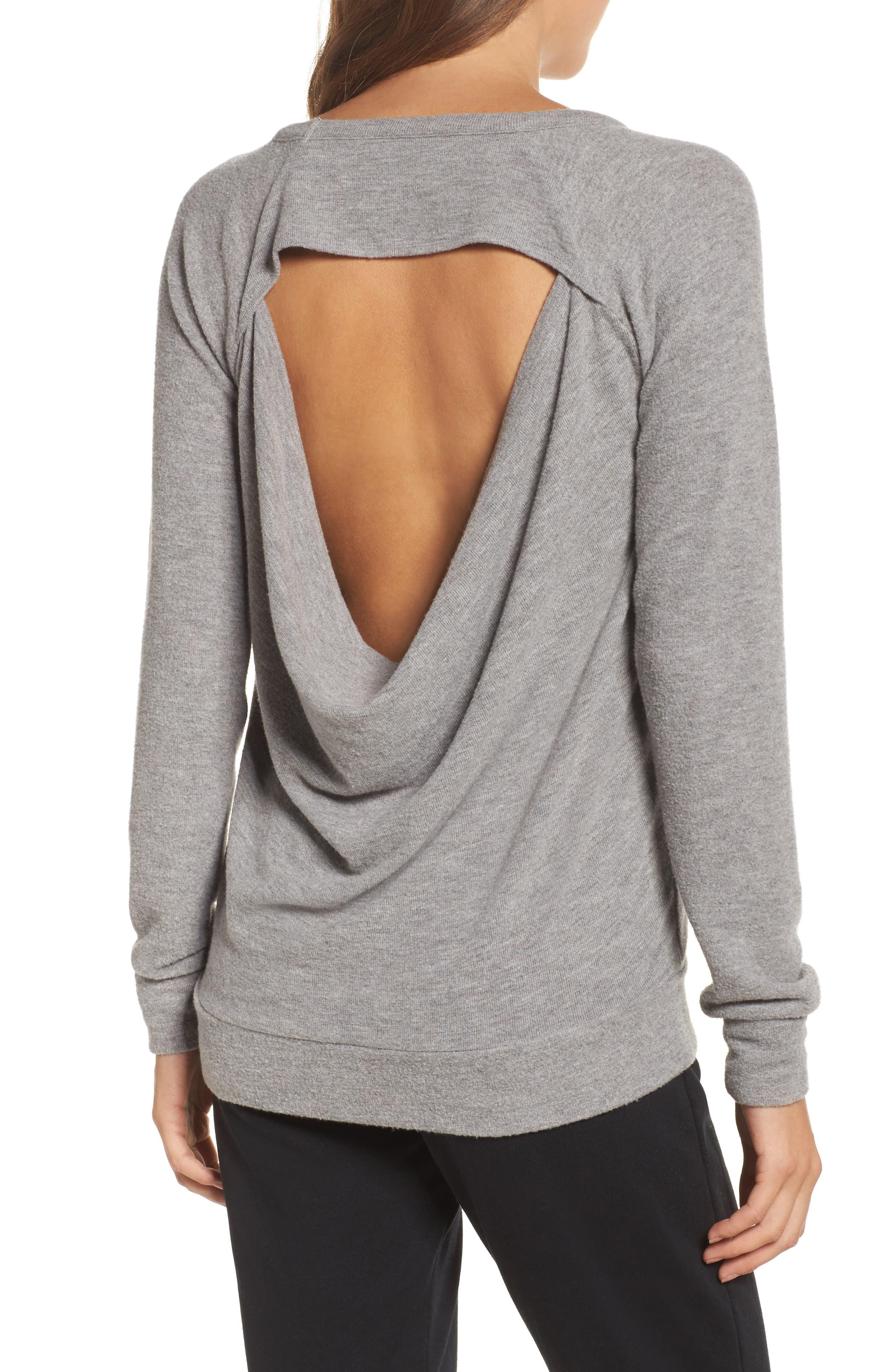 Drape Back Love Knit Sweatshirt,                             Alternate thumbnail 2, color,                             039