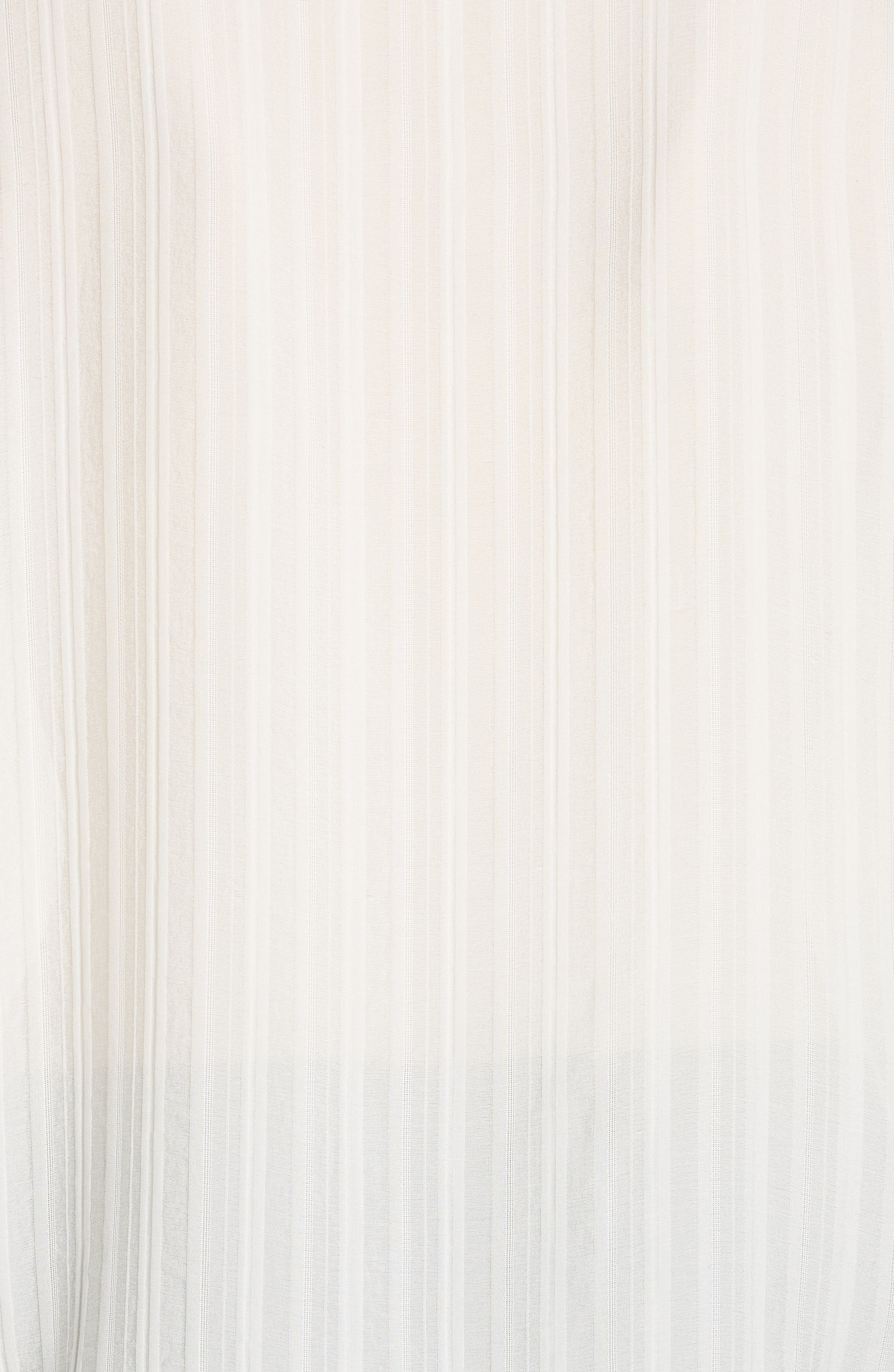 Abigail Silk Jacquard Stripe Blouse,                             Alternate thumbnail 5, color,                             TROPHY CREAM