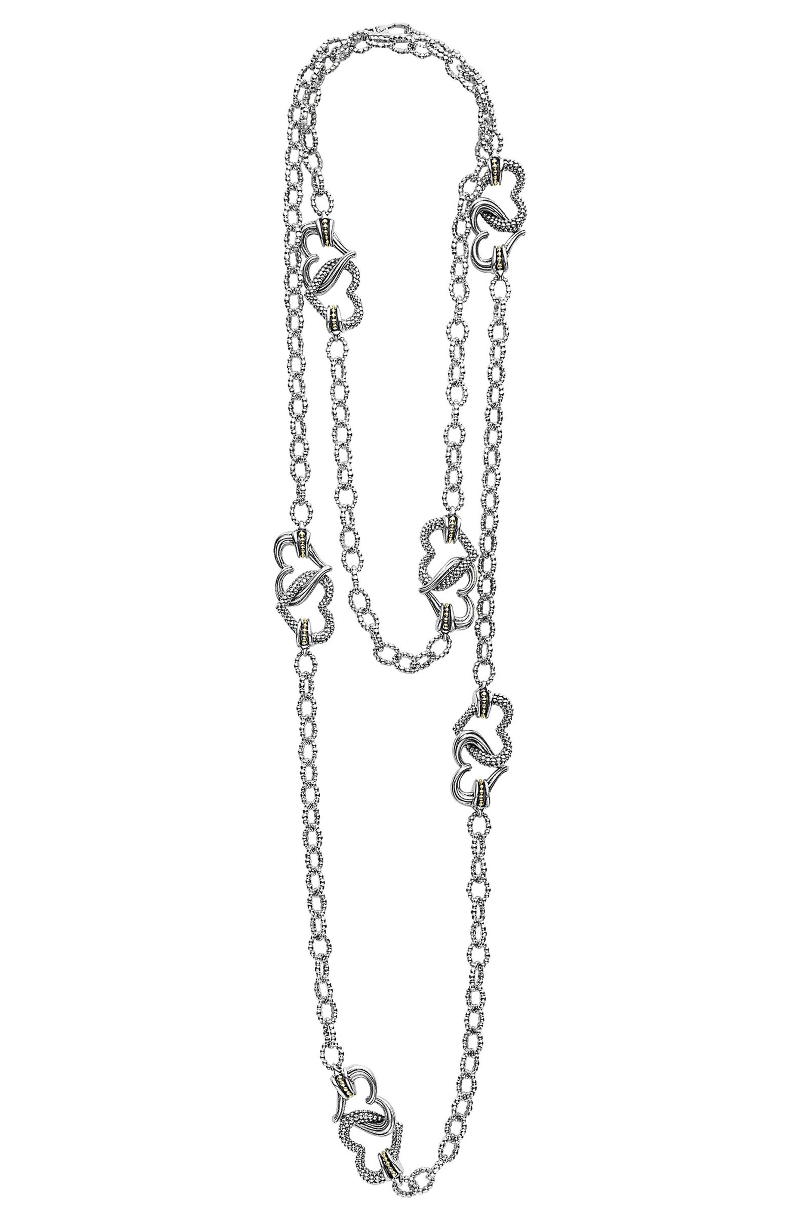 Beloved Long Link Necklace,                             Alternate thumbnail 3, color,                             040