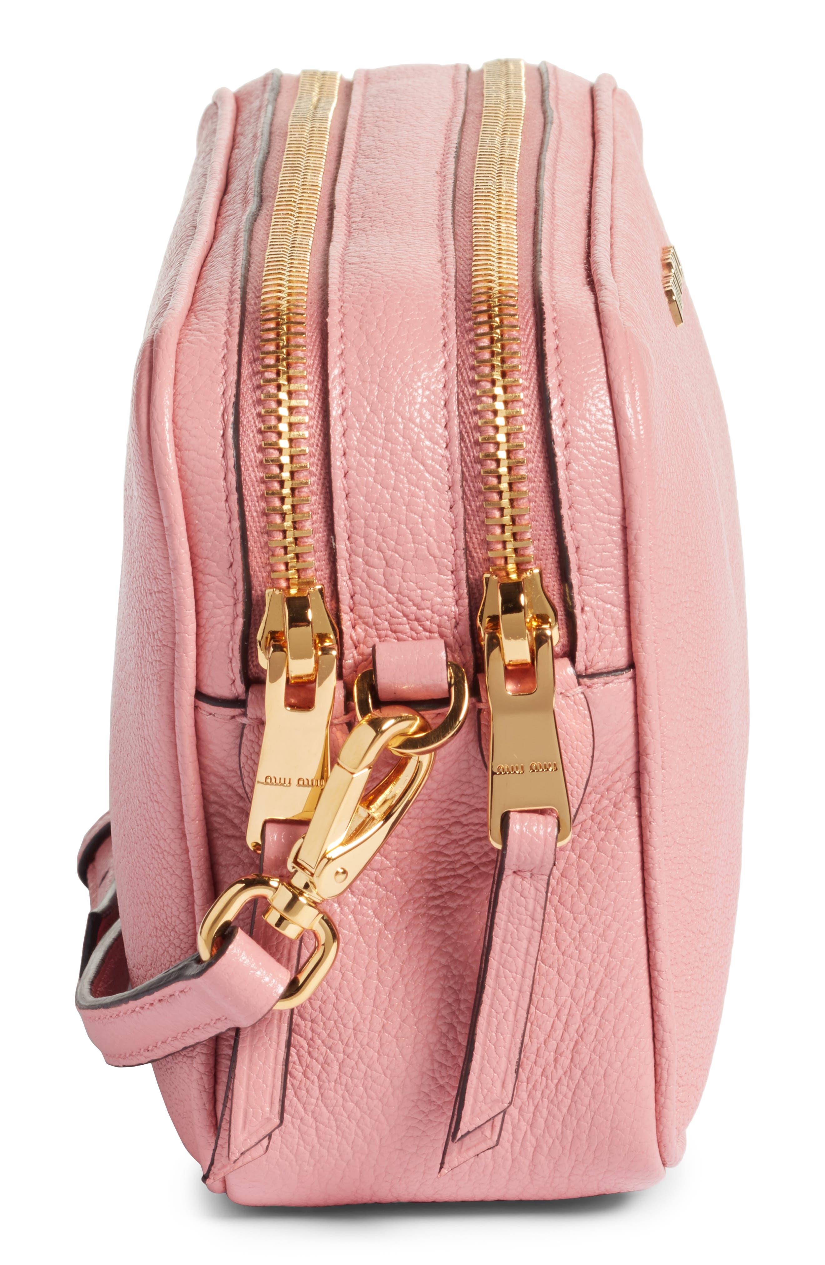 Madras Goatskin Leather Crossbody Bag,                             Alternate thumbnail 5, color,