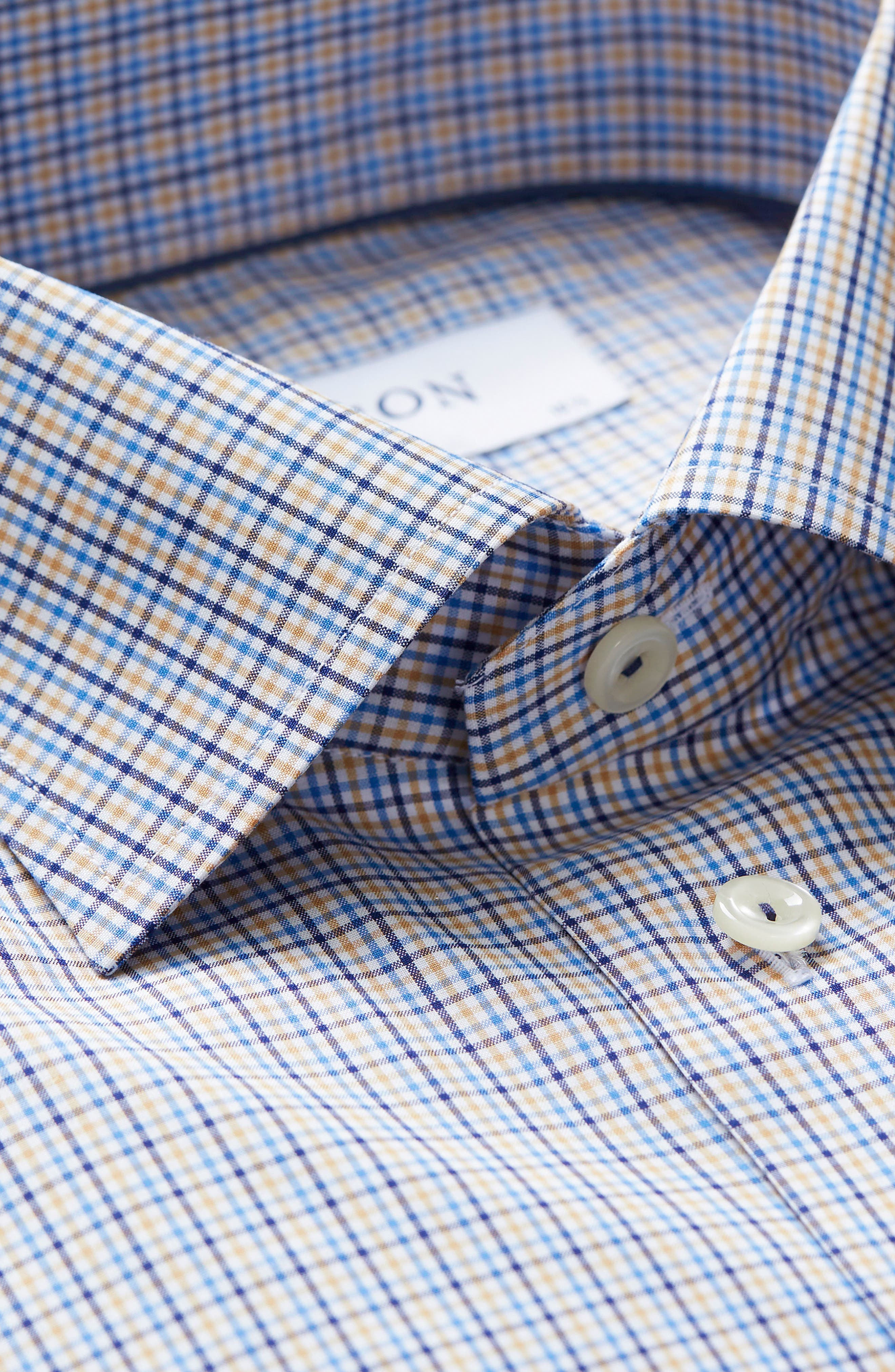 Slim Fit Check Dress Shirt,                             Alternate thumbnail 3, color,                             400